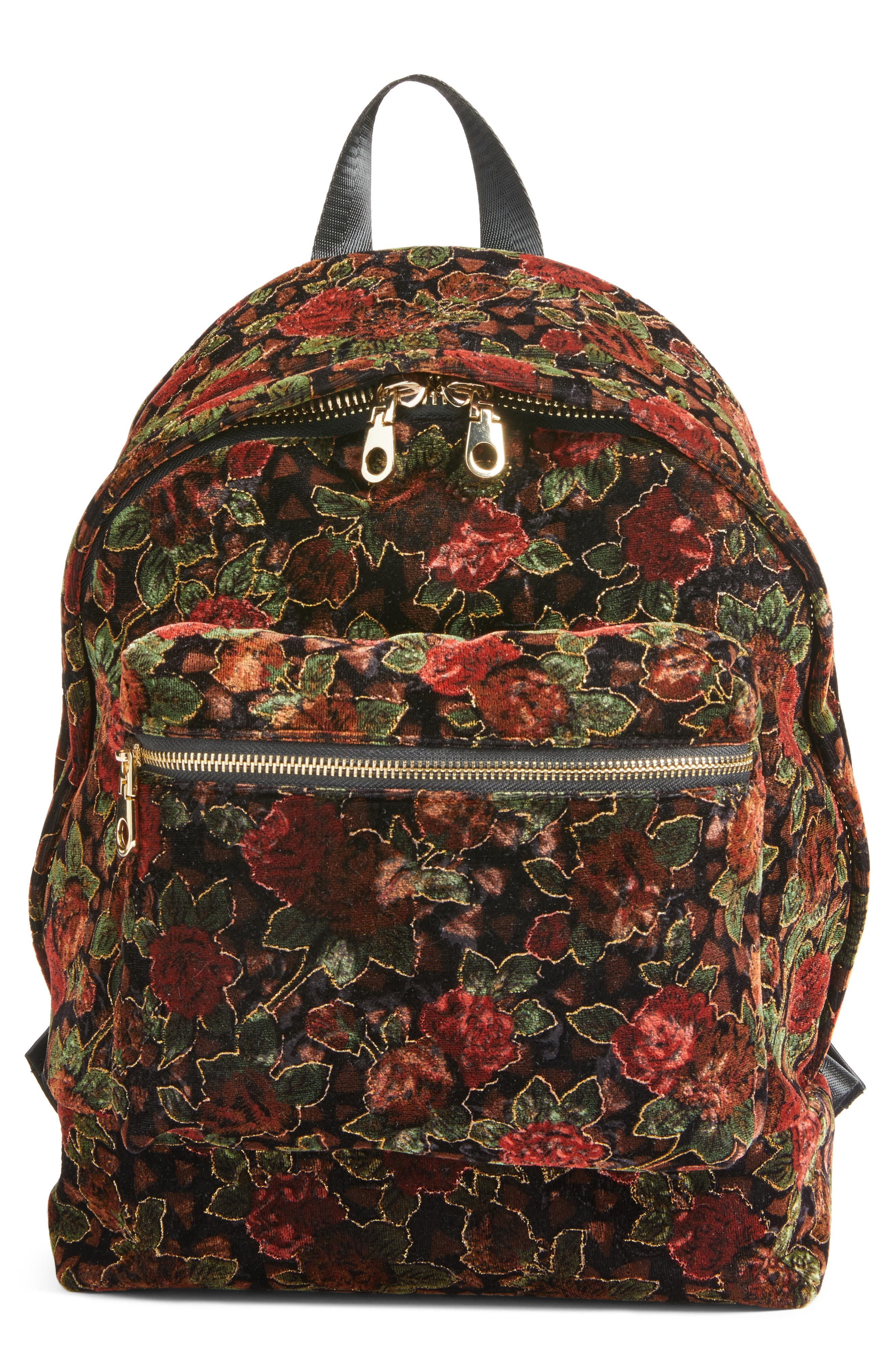 Chelsea28 Floral Velvet Backpack