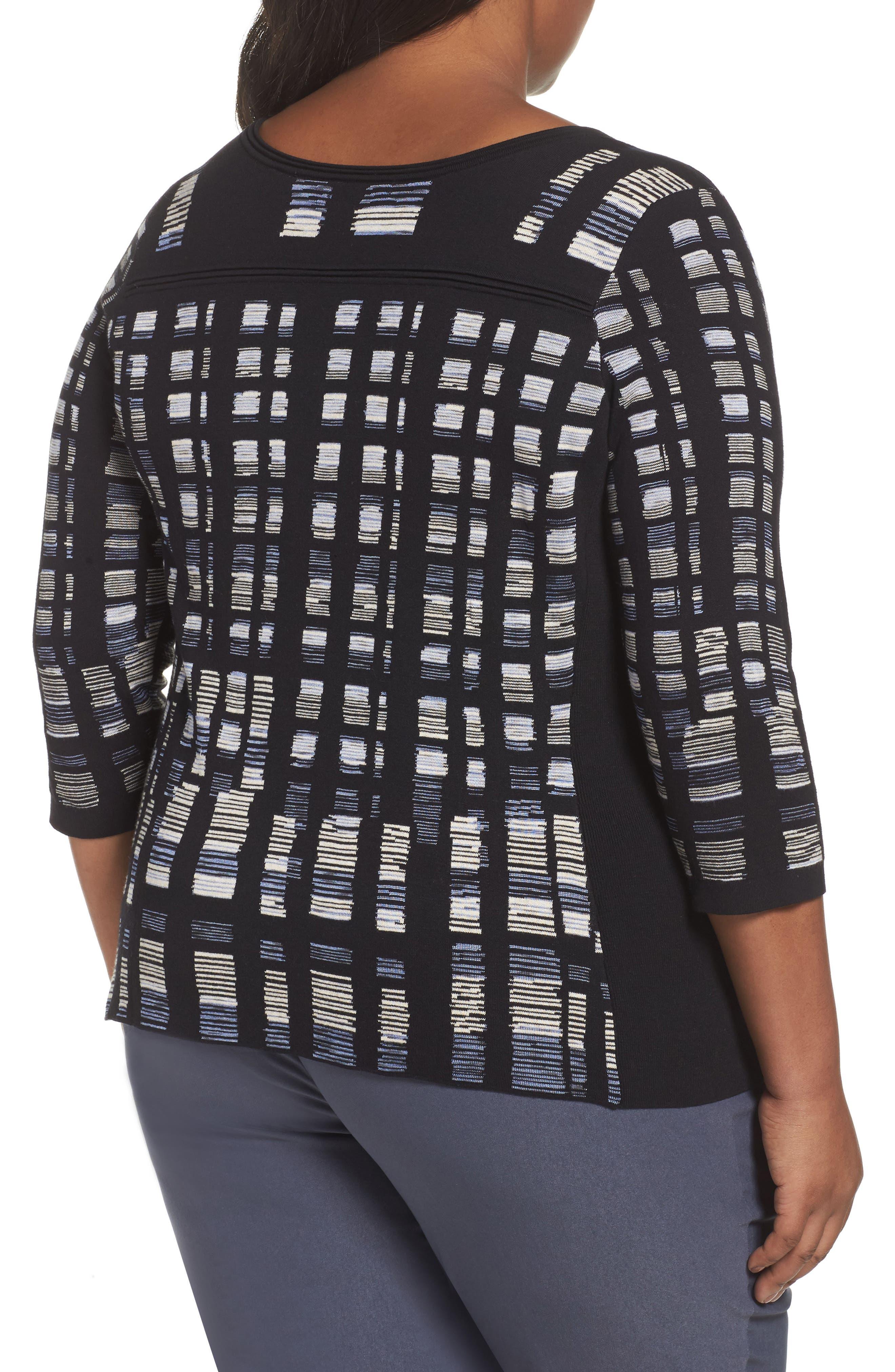 Crystal Cove Sweater,                             Alternate thumbnail 2, color,                             Black Multi