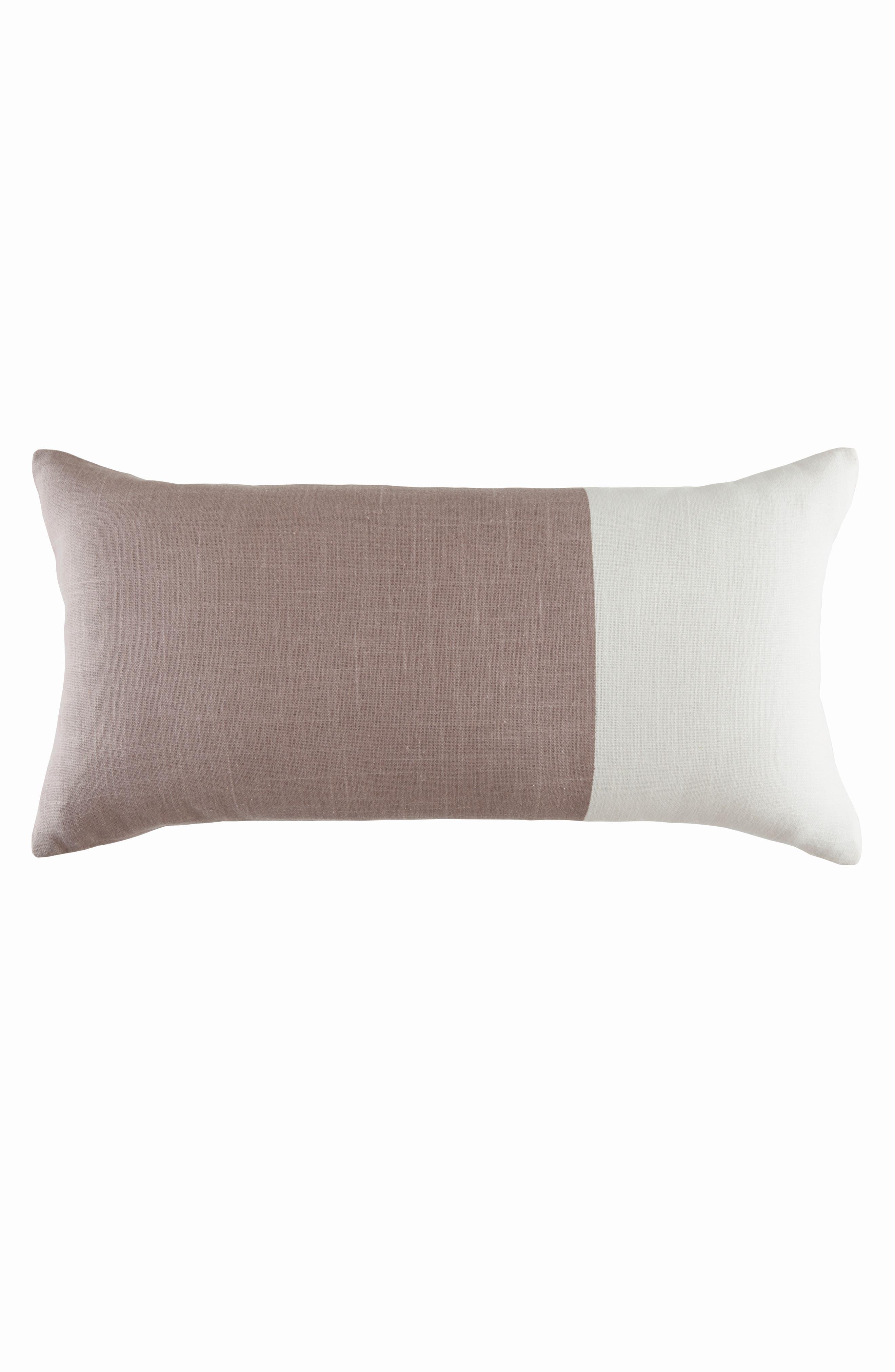 Colorblock Accent Pillow,                         Main,                         color, Quartz