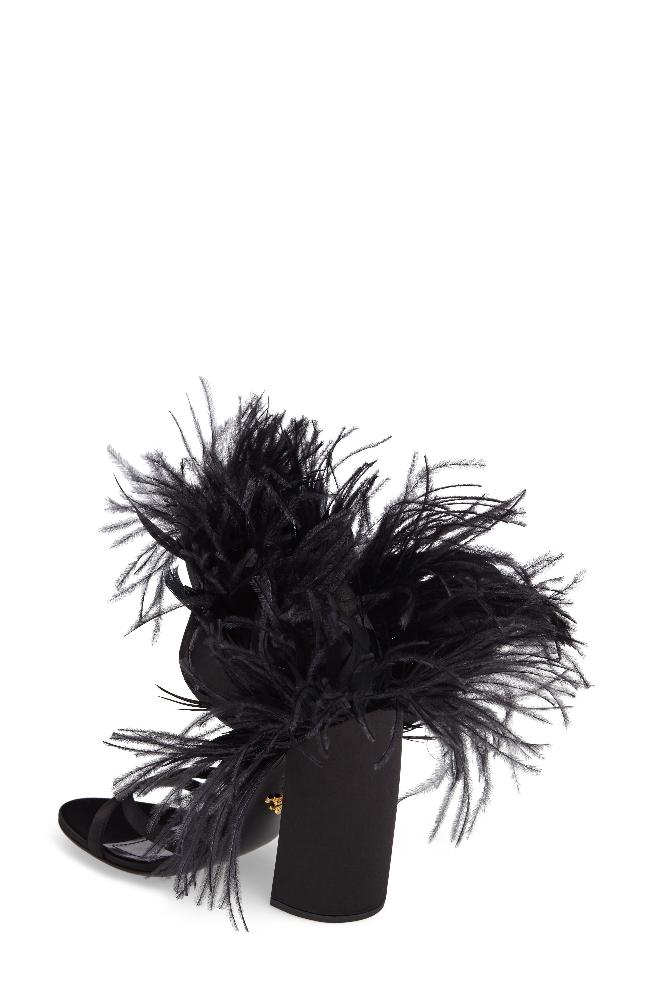 Alternate Image 2  - Prada Feather Block Heel Sandal (Women)