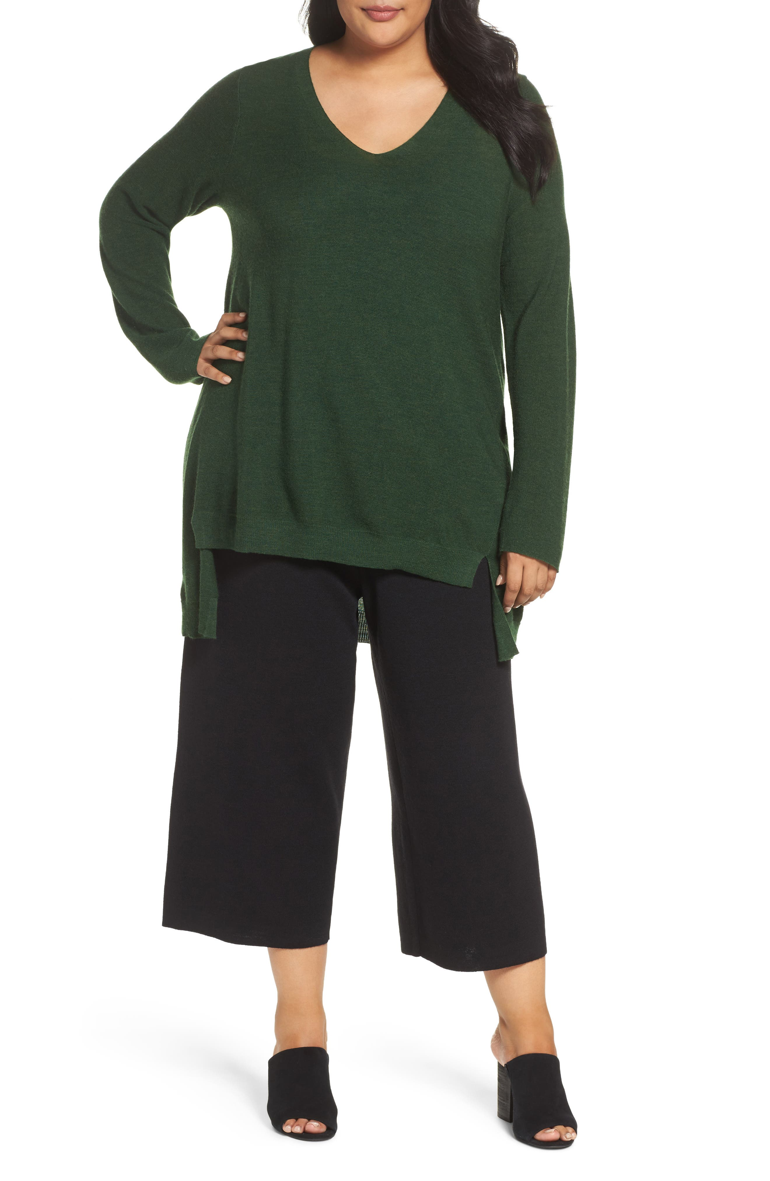 Eileen Fisher High/Low Merino Wool Sweater