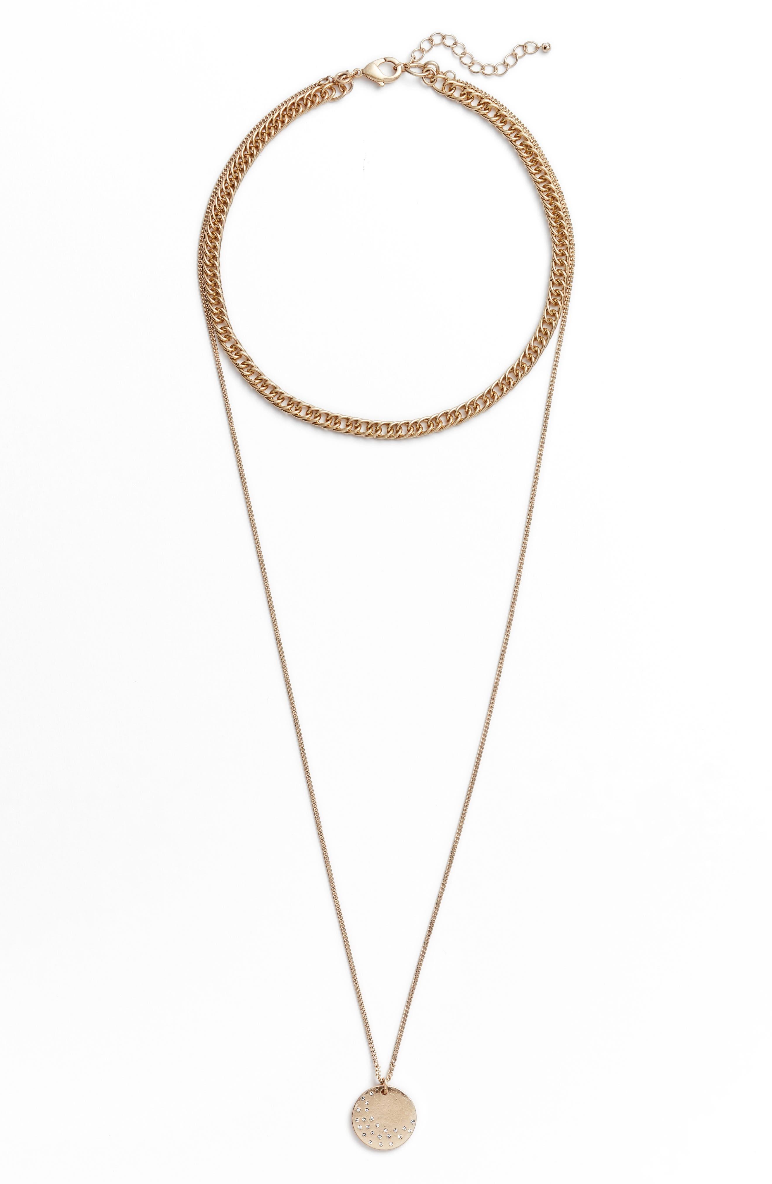 Treasure & Bond x Something Navy Multistrand Necklace
