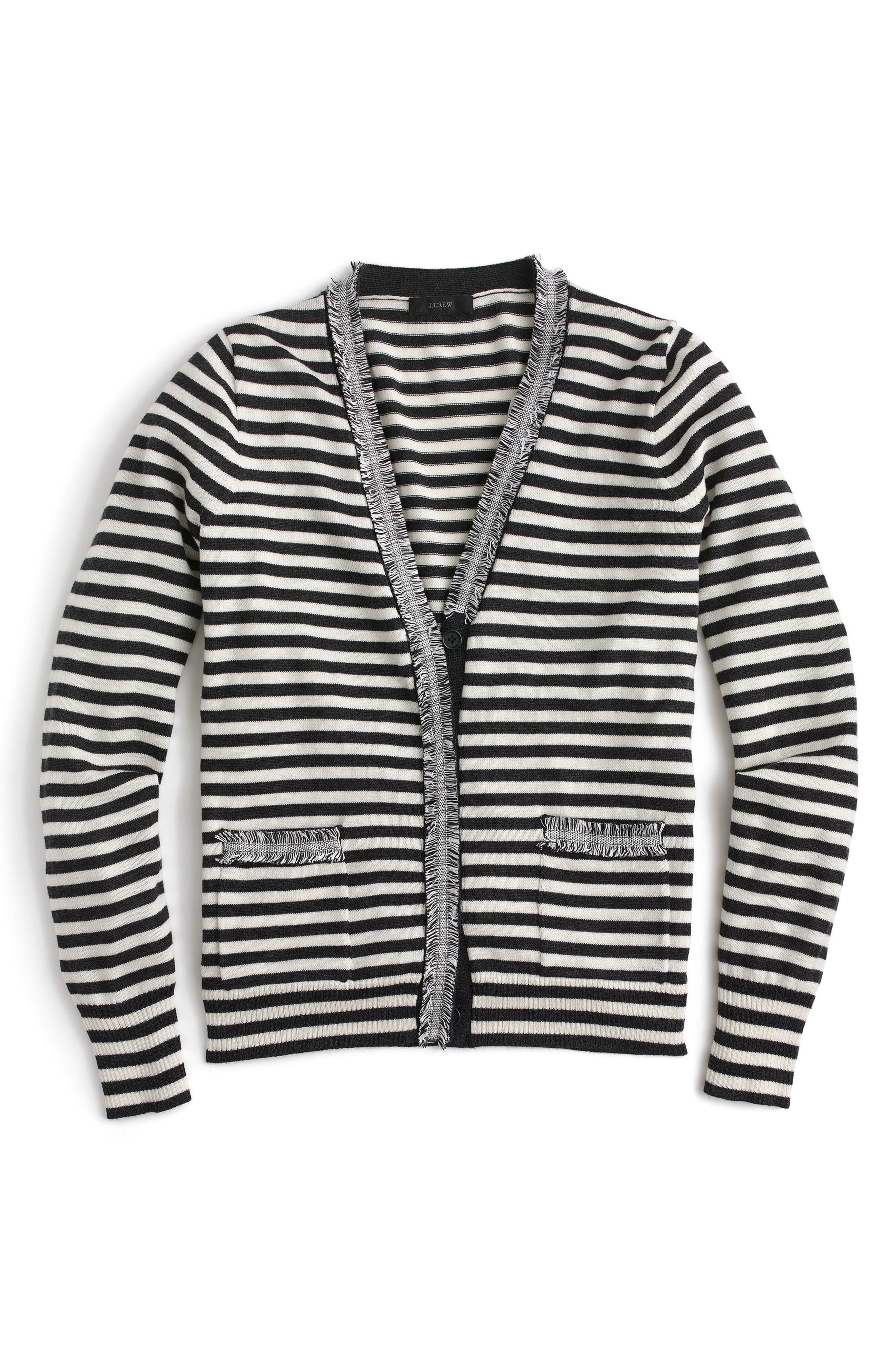 Alternate Image 3  - J.Crew Stripe Harlow Cardigan Sweater