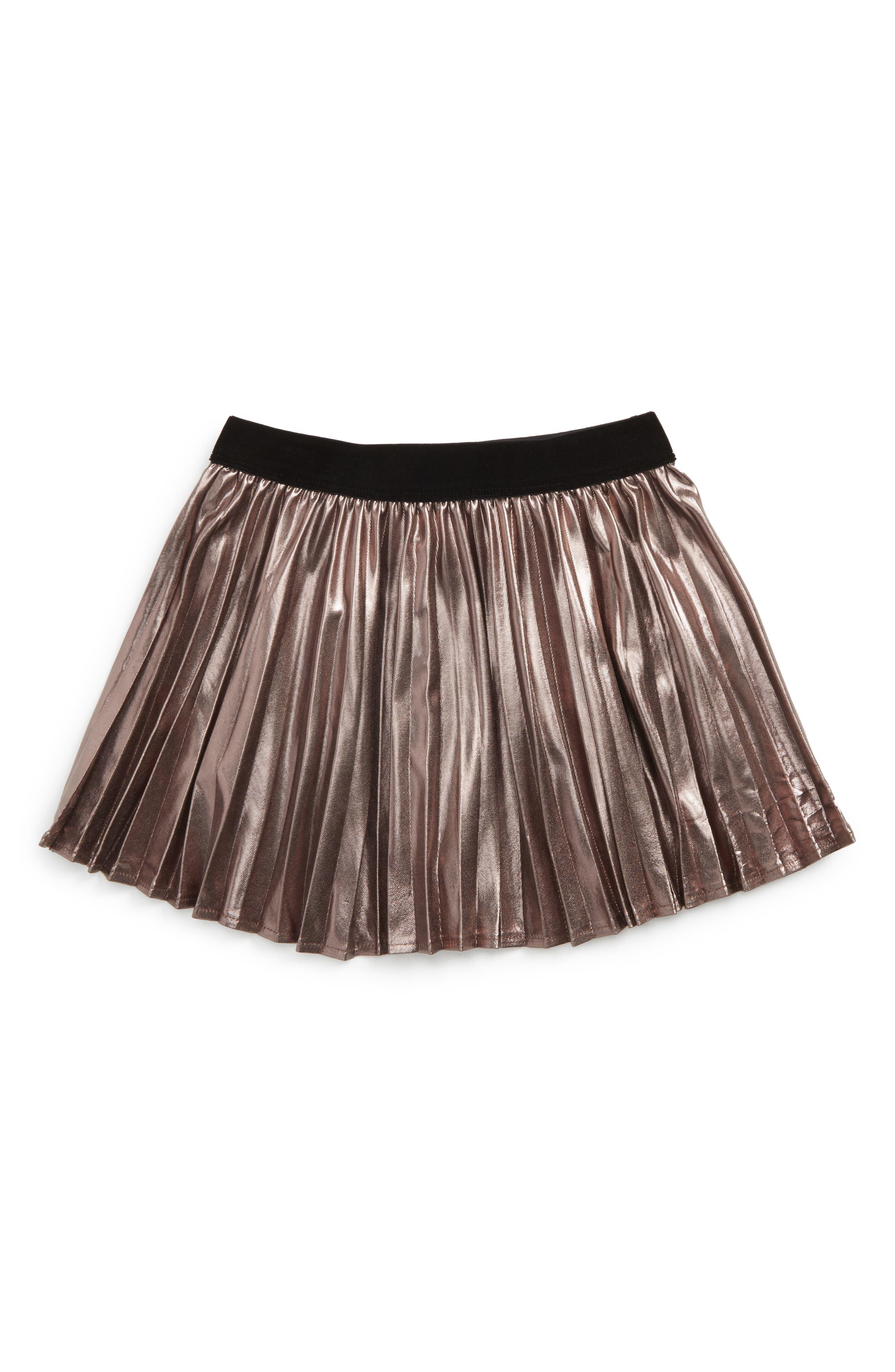 Bardot Junior Wild Hearts Metallic Pleat Skirt (Baby Girls & Toddler Girls)