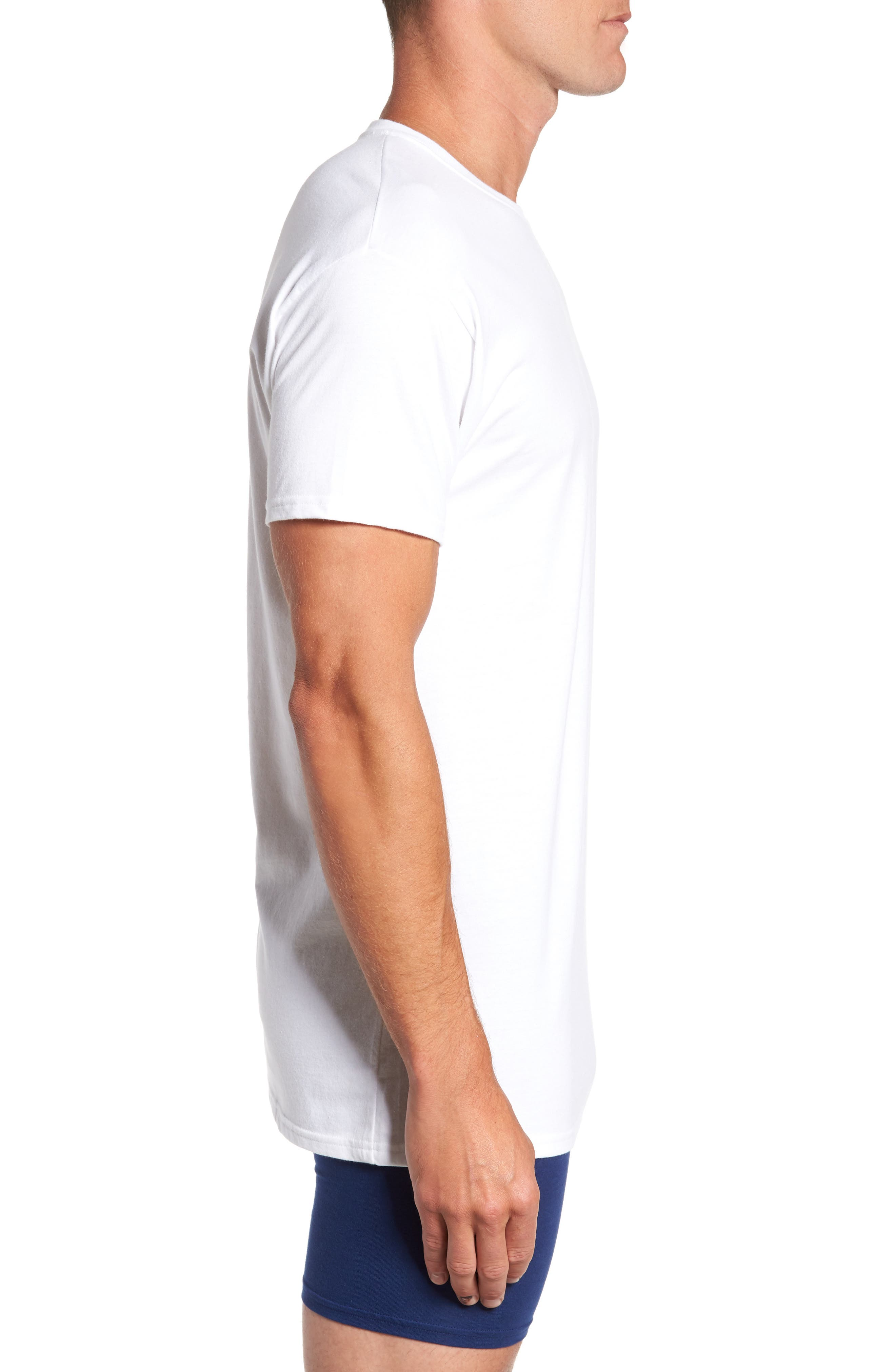Alternate Image 4  - Hanes Luxury Essentials 3-Pack T-Shirt