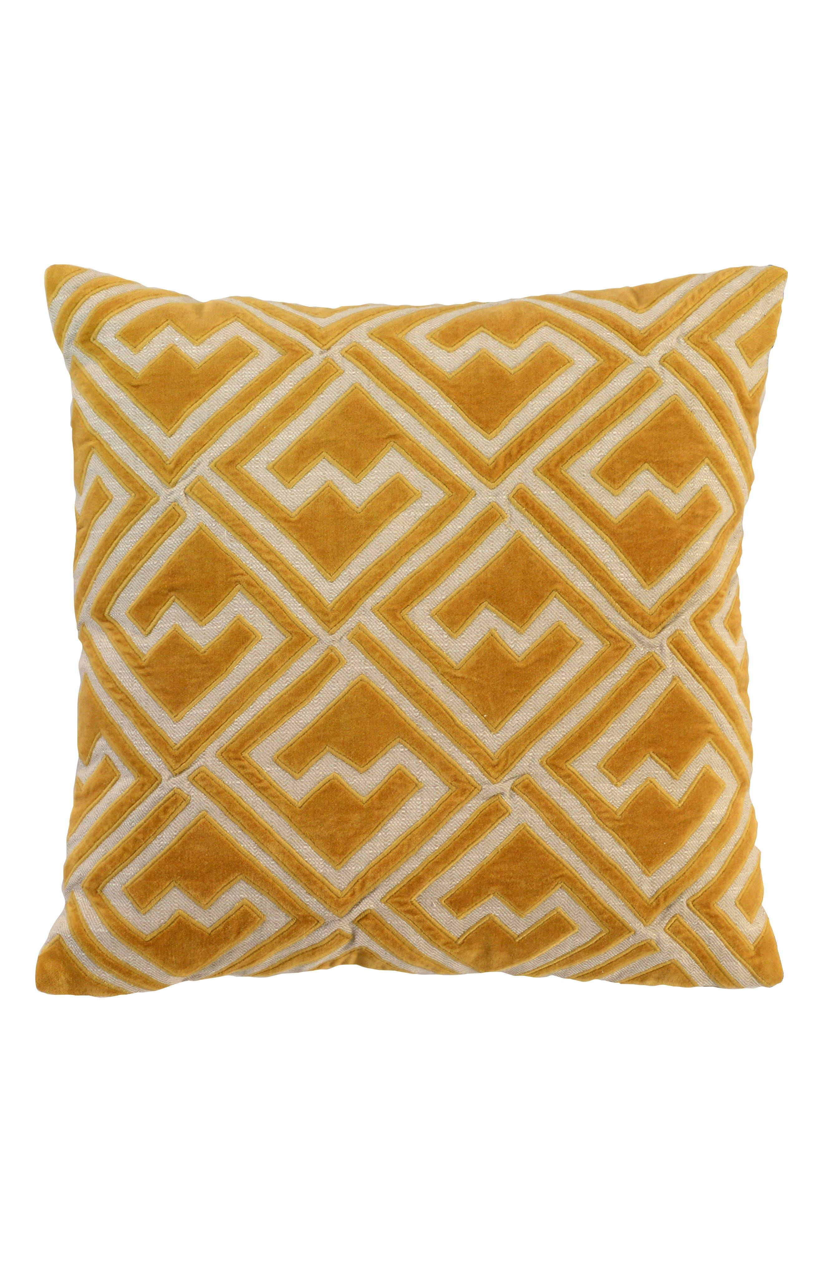 Ragno Accent Pillow,                         Main,                         color, Ochre