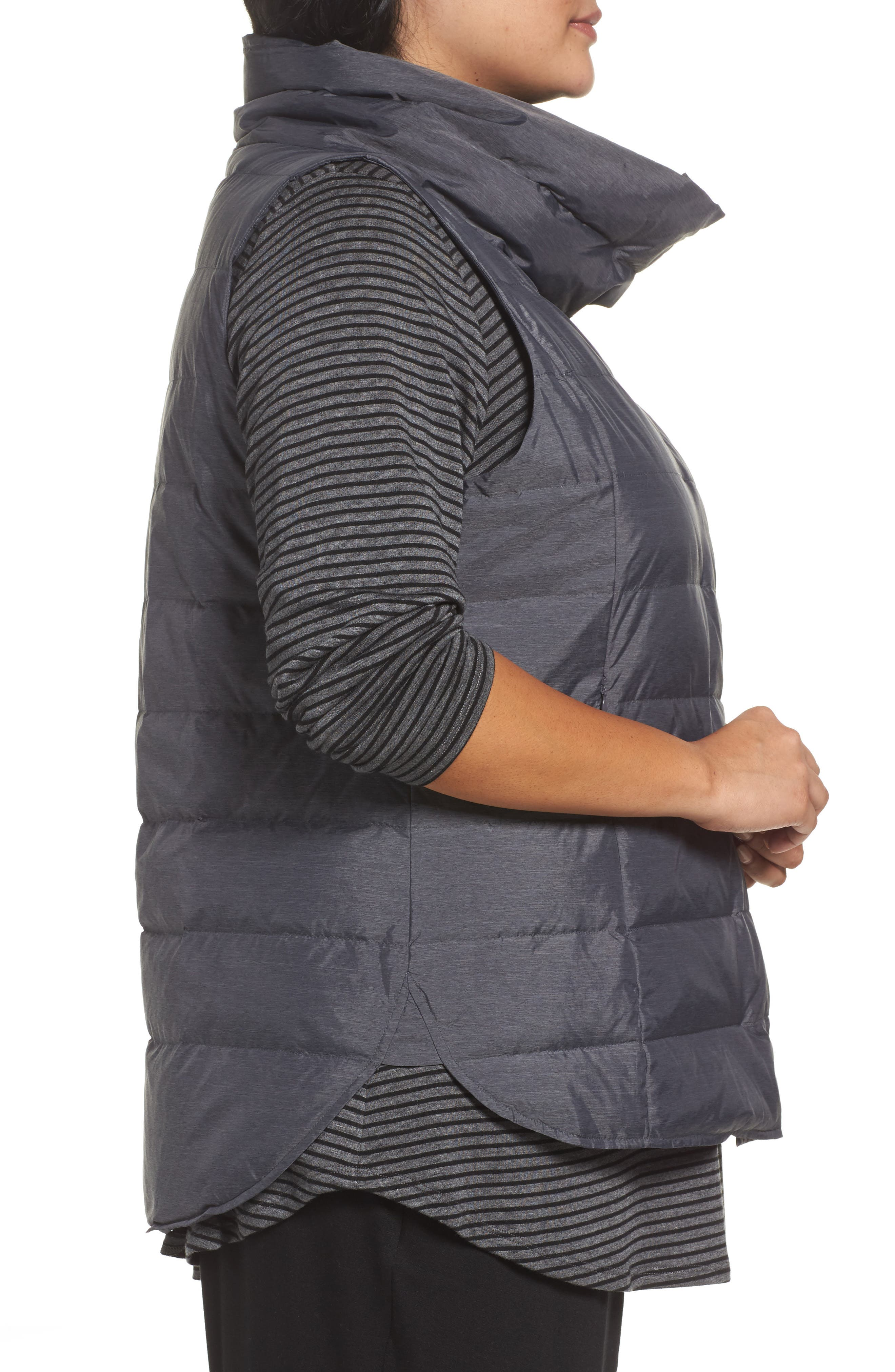 Alternate Image 3  - Eileen Fisher Stand Collar Vest (Plus Size)