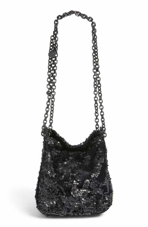 KENDALL + KYLIE Amy Sequin Bucket Bag