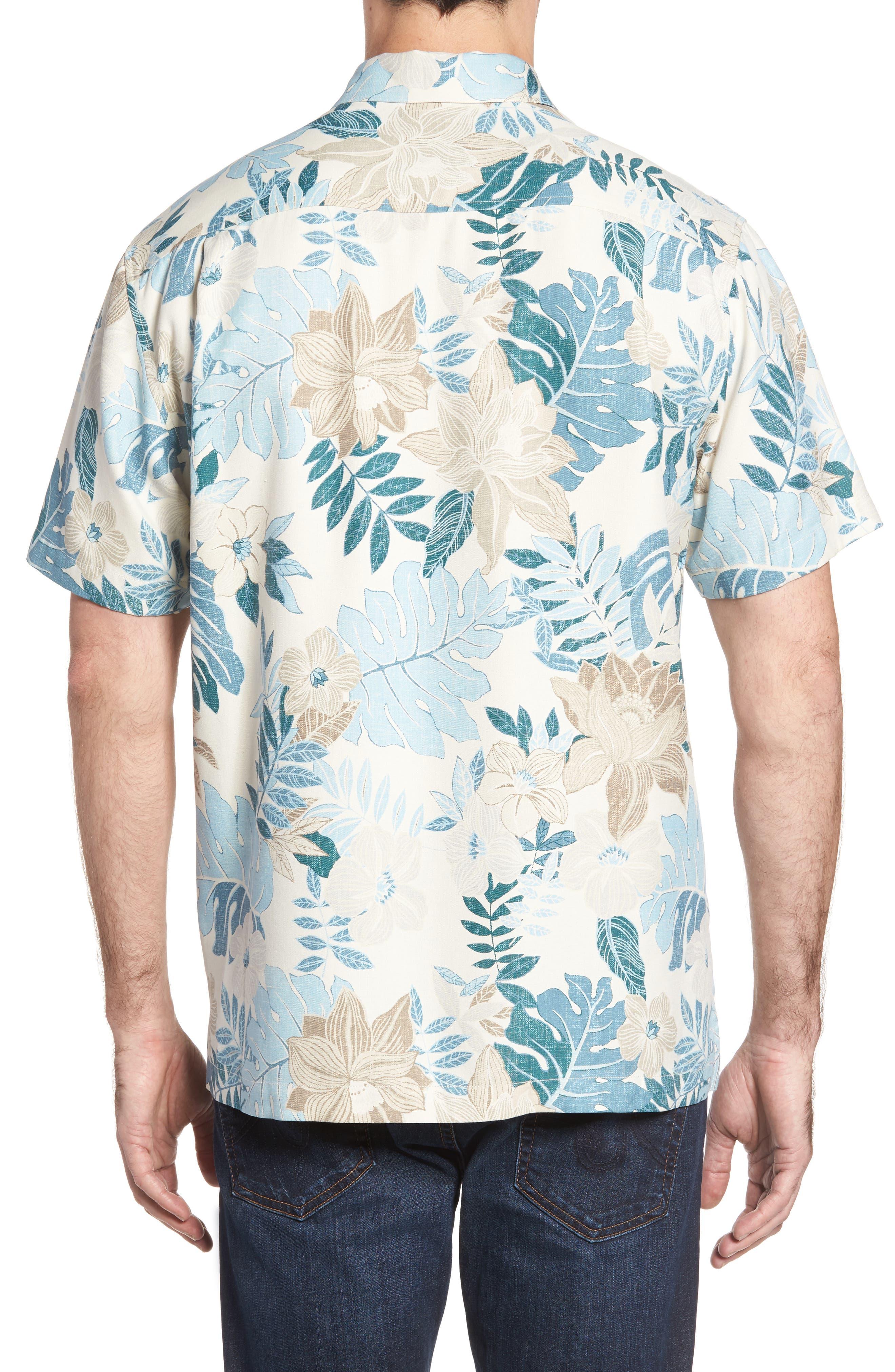 Desert Blooms Standard Fit Silk Camp Shirt,                             Alternate thumbnail 2, color,                             Coconut Cream