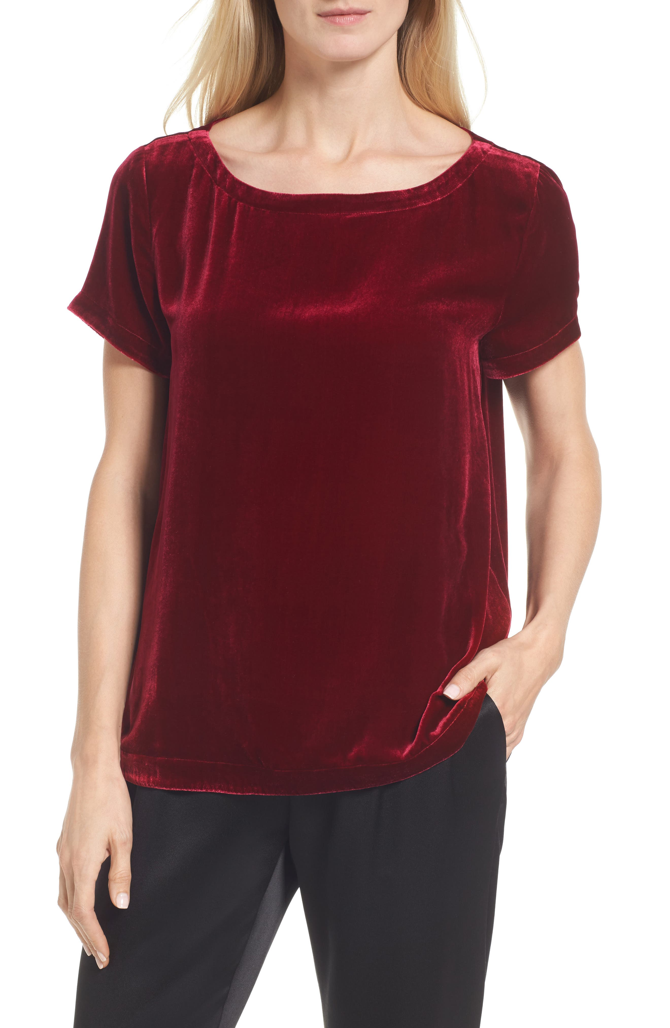 Eileen Fisher Velvet Top