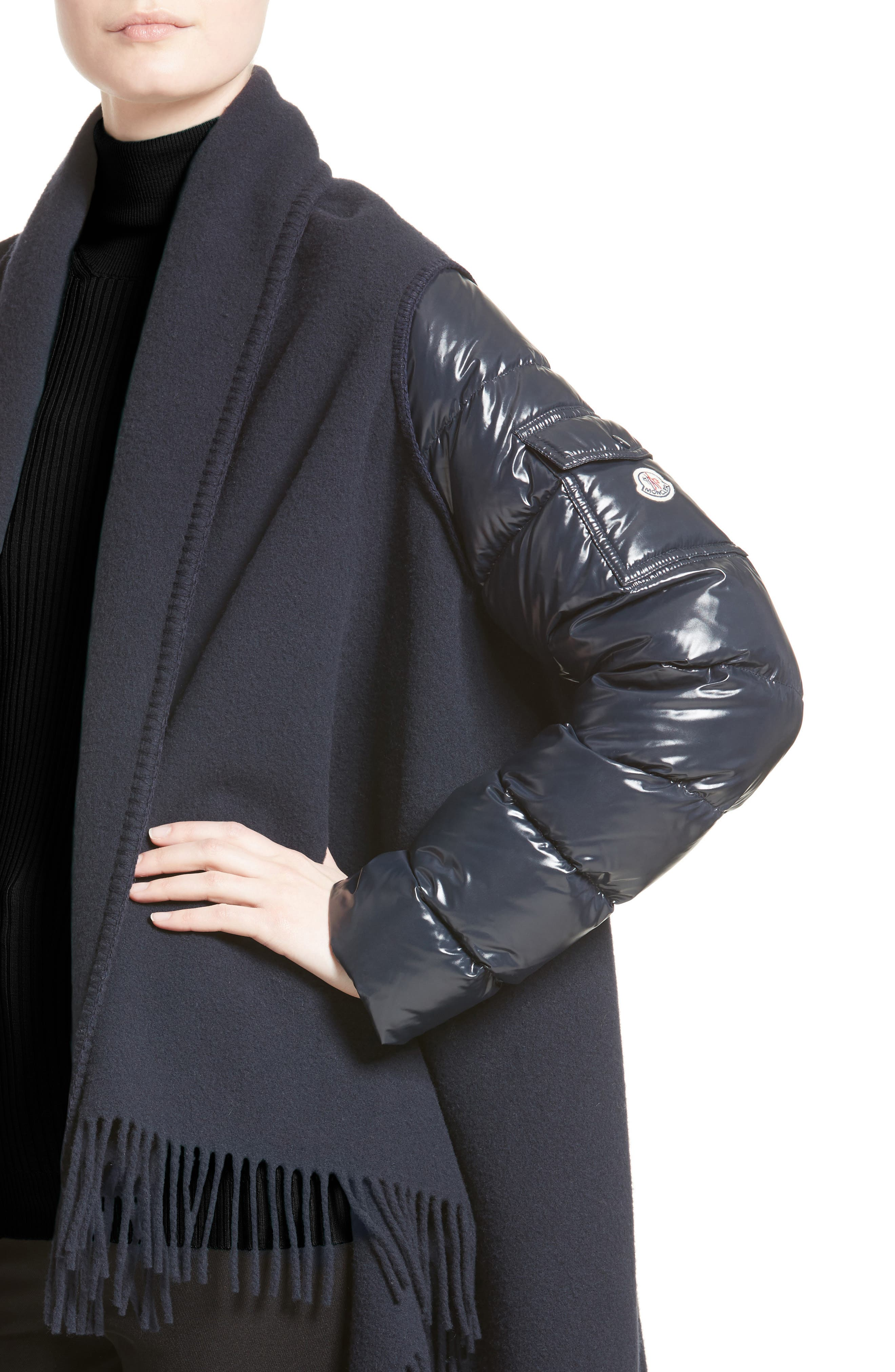 Alternate Image 4  - Moncler Mantella Quilted Sleeve Wrap Sweater
