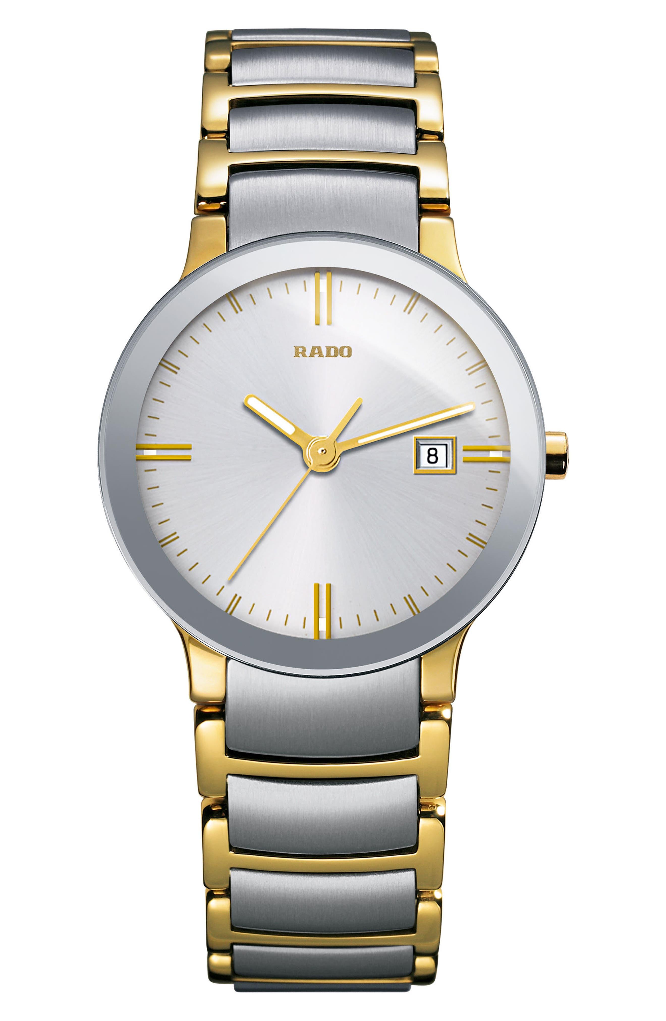 Centrix Bracelet Watch, 28mm,                         Main,                         color, Gold/ Silver
