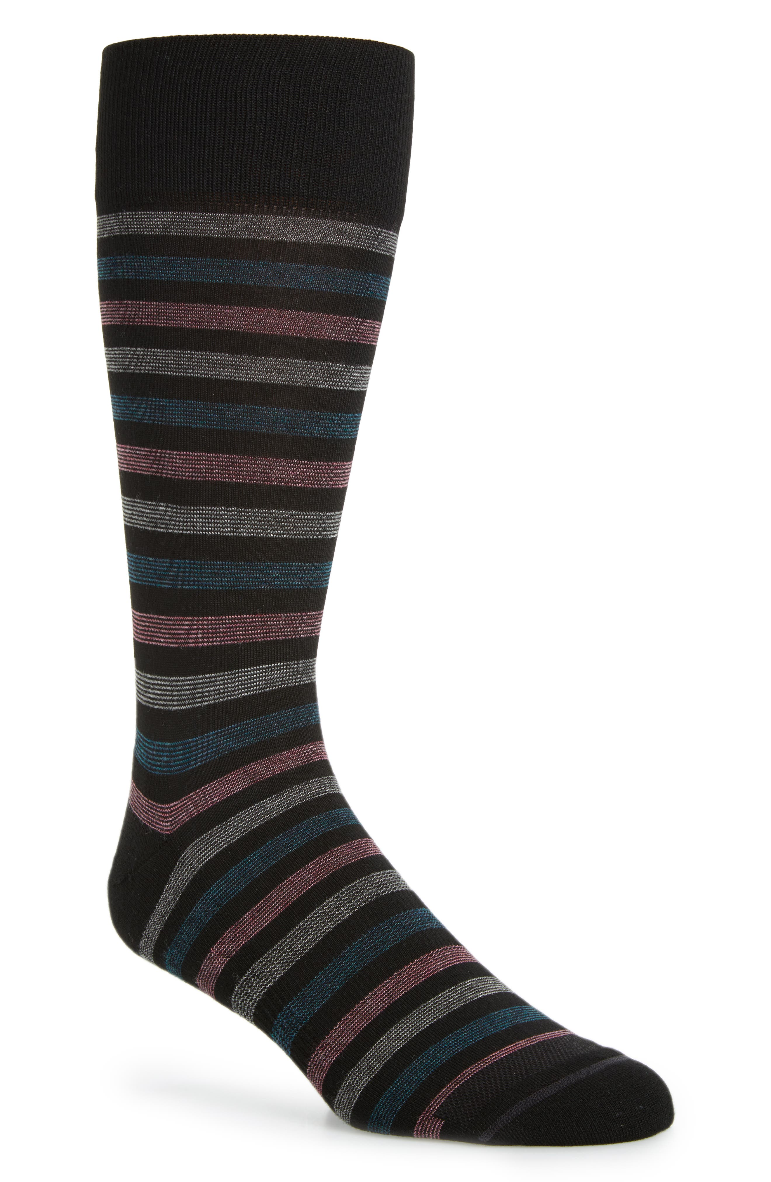 Alternate Image 1 Selected - Nordstrom Men's Shop Multistripe Socks