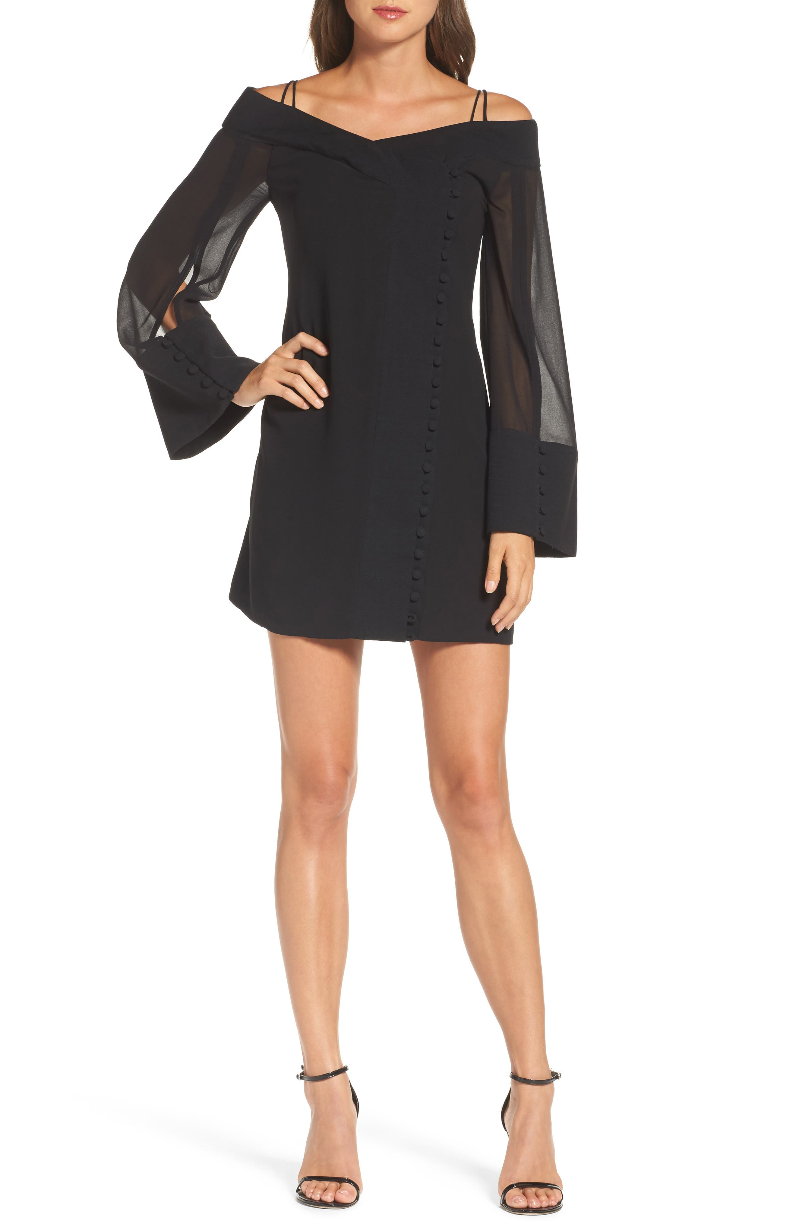 C/MEO Collective Presence Cold Shoulder Minidress