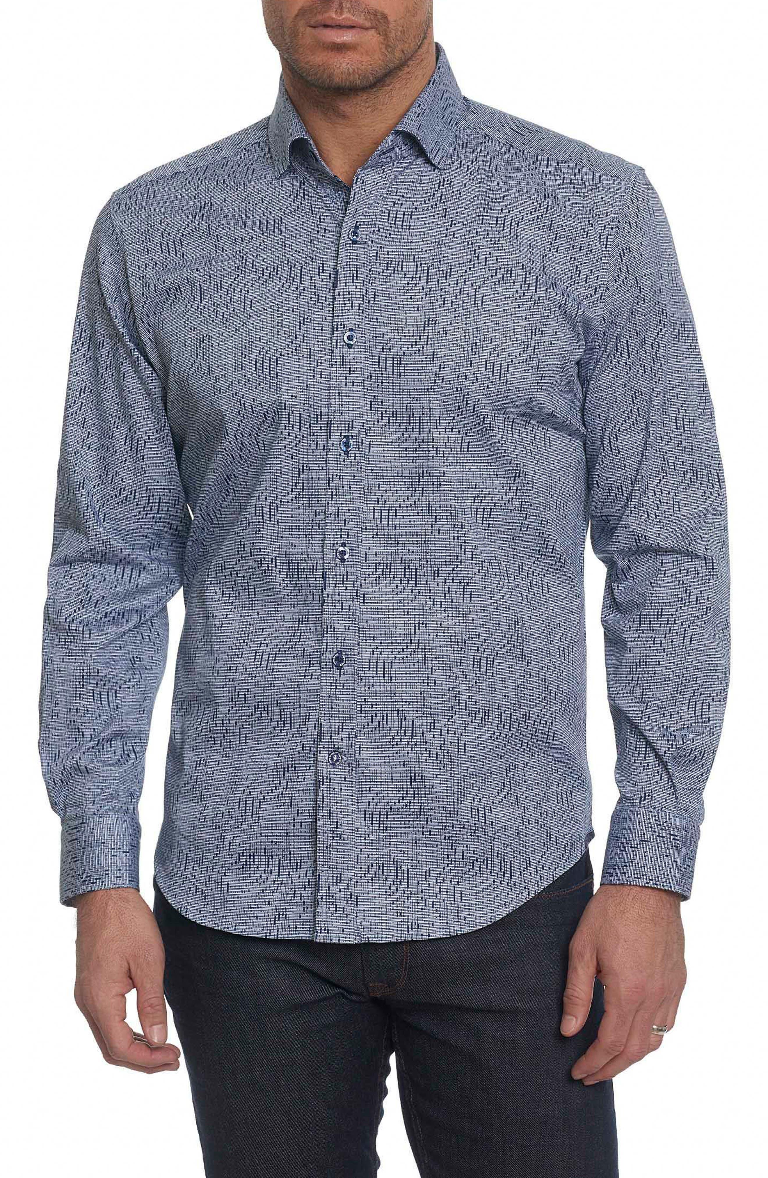 Main Image - Robert Graham Donovan Tailored Fit Sport Shirt