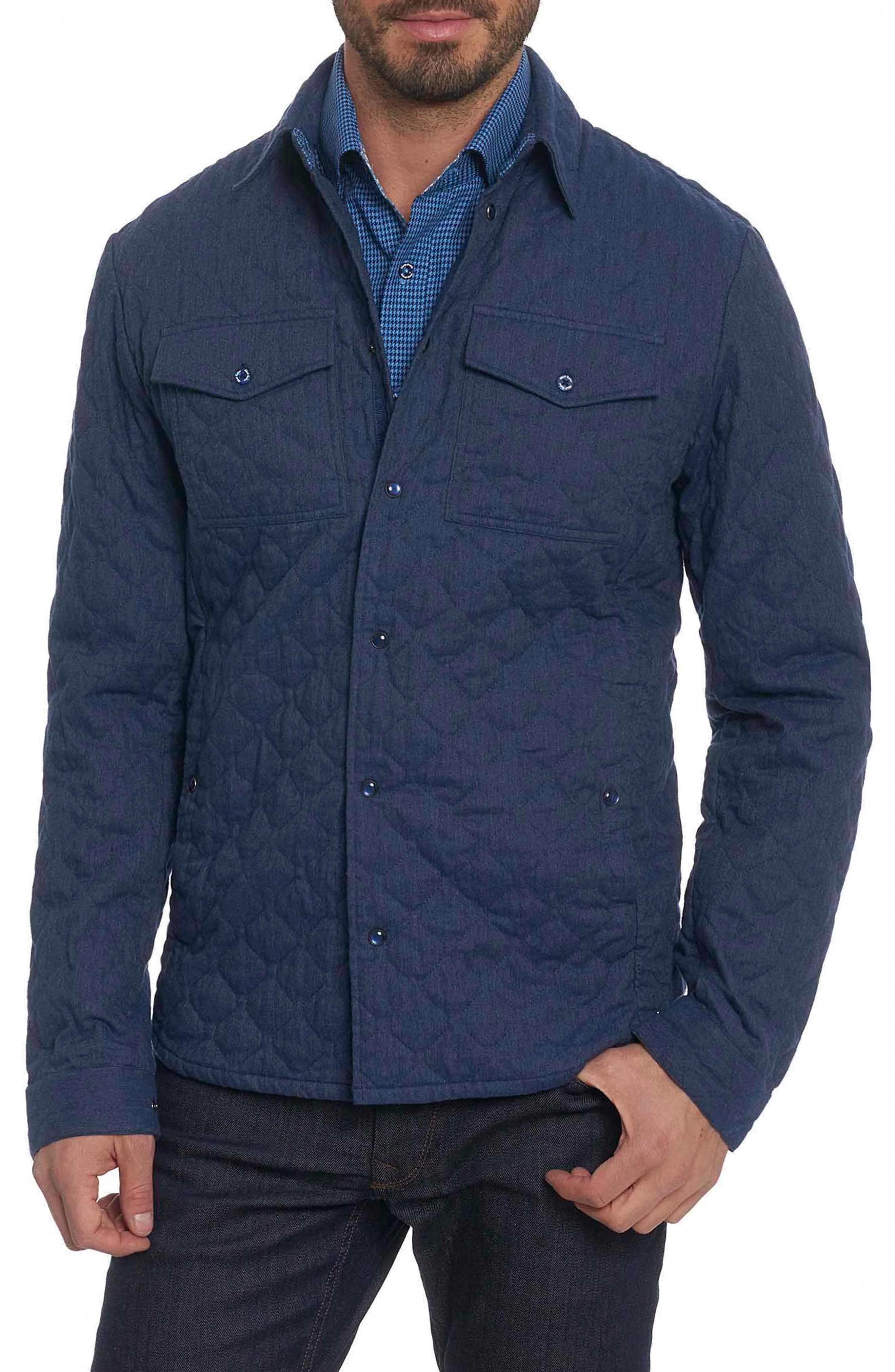 Lance Quilted Shirt Jacket,                         Main,                         color, Blue
