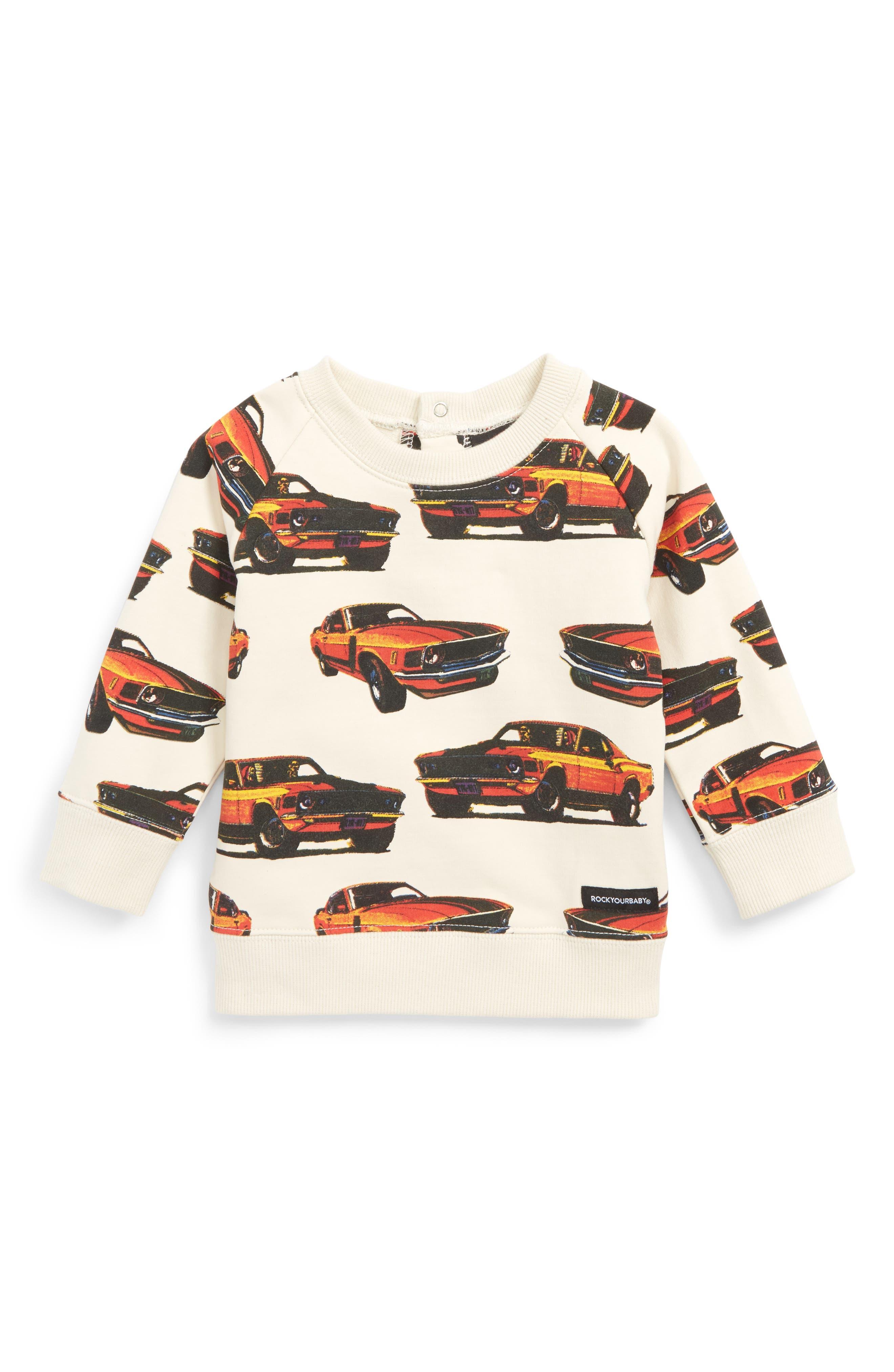 Eat My Dust Sweatshirt,                         Main,                         color, White Multi