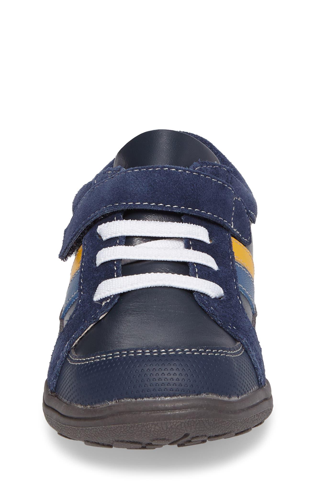 'Randall' Sneaker,                             Alternate thumbnail 4, color,                             Navy