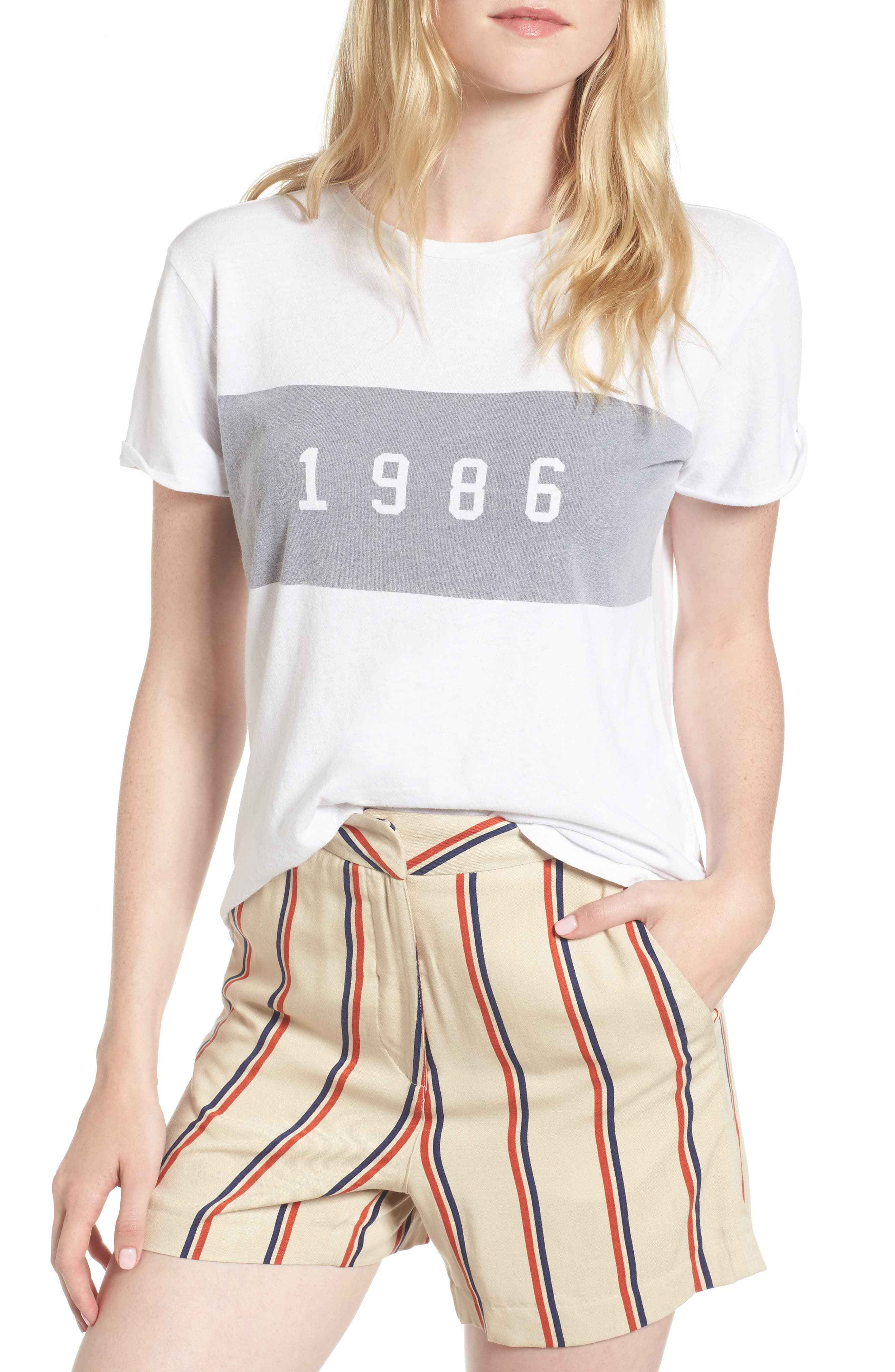 1986 Tee,                         Main,                         color, White