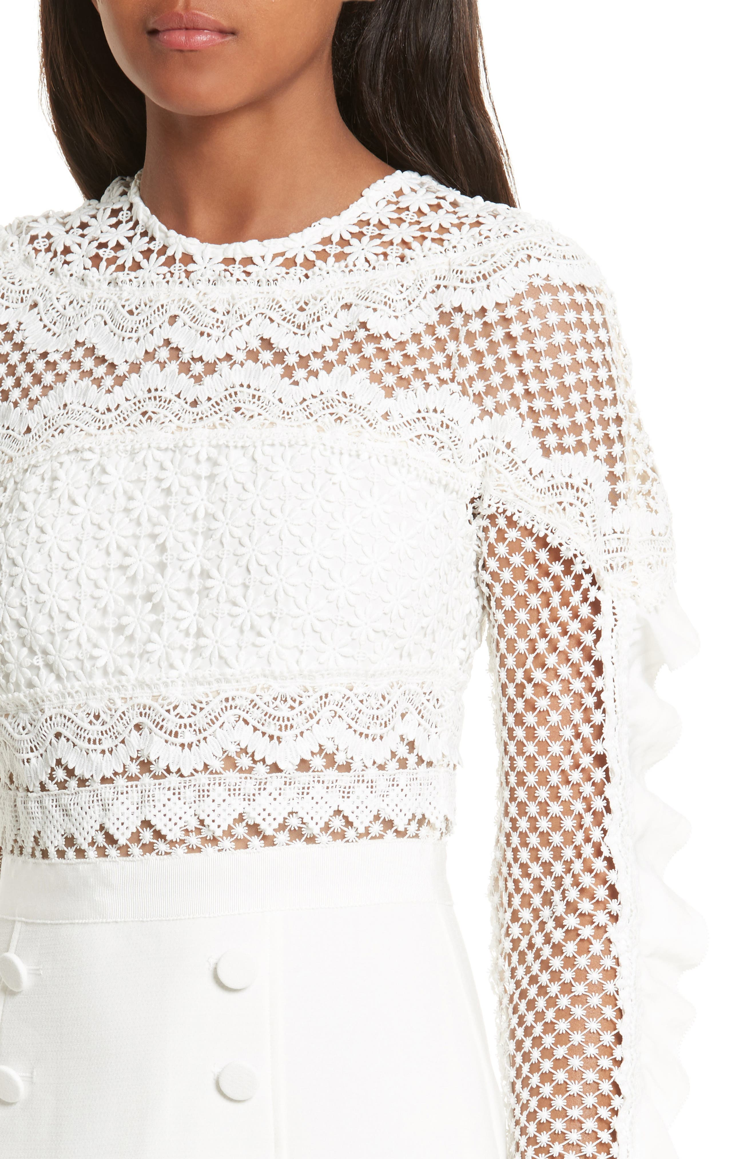 Alternate Image 4  - Self-Portrait Bellis Lace Fit & Flare Dress