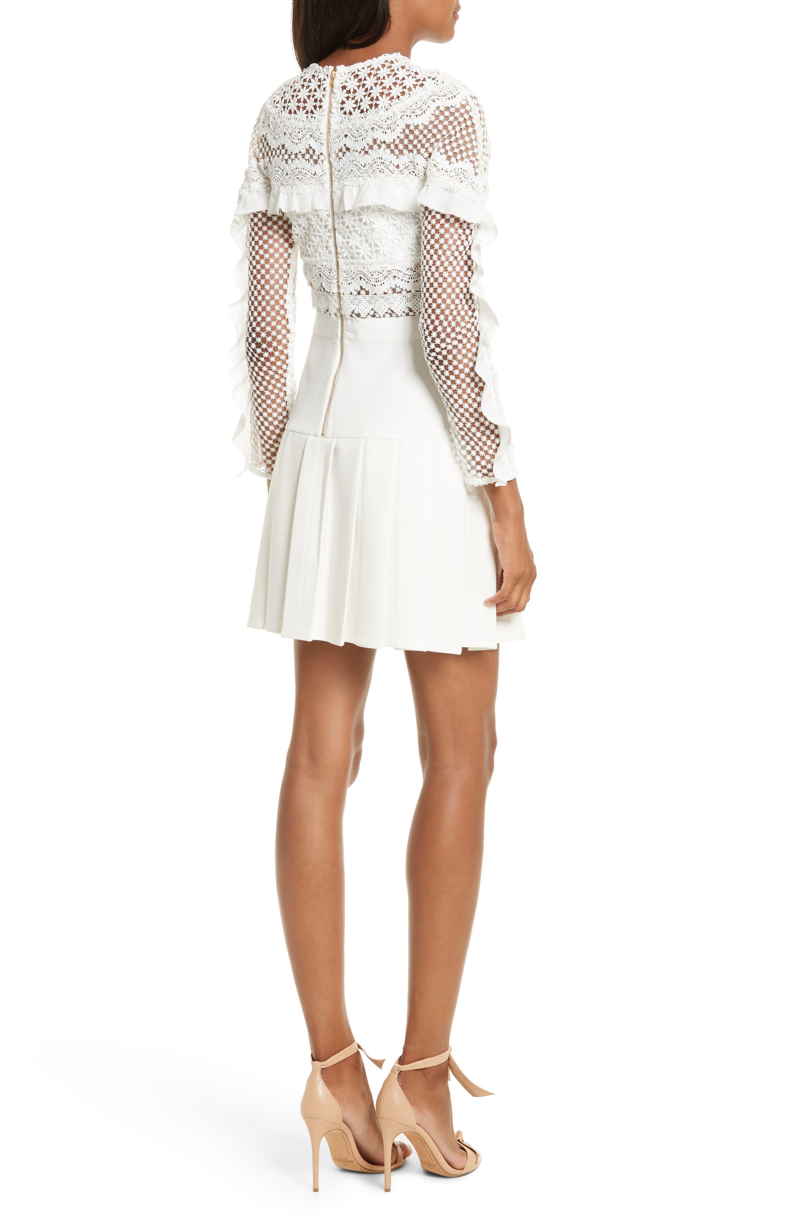 Alternate Image 2  - Self-Portrait Bellis Lace Fit & Flare Dress