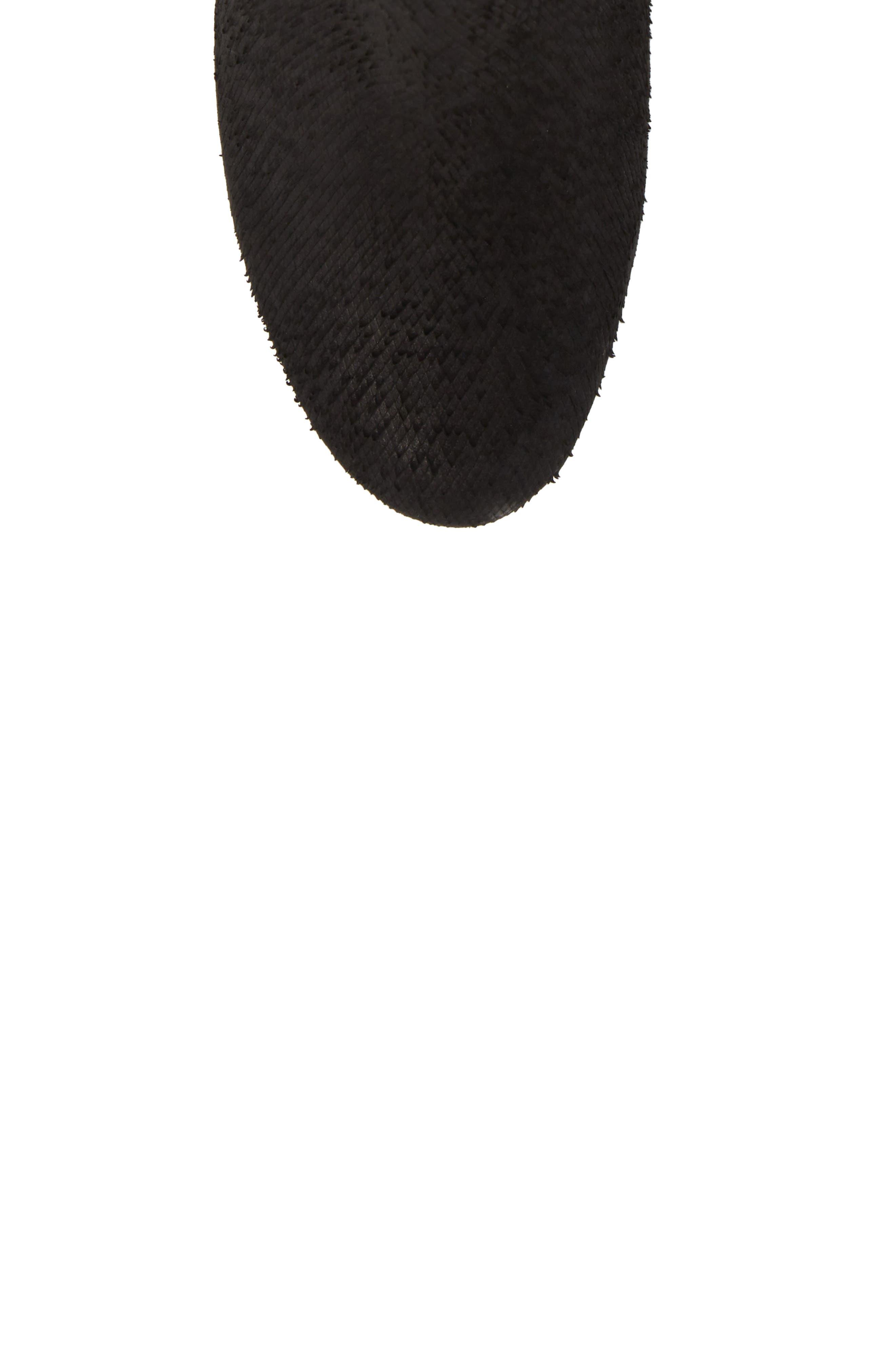Prop Boot,                             Alternate thumbnail 5, color,                             Black Suede