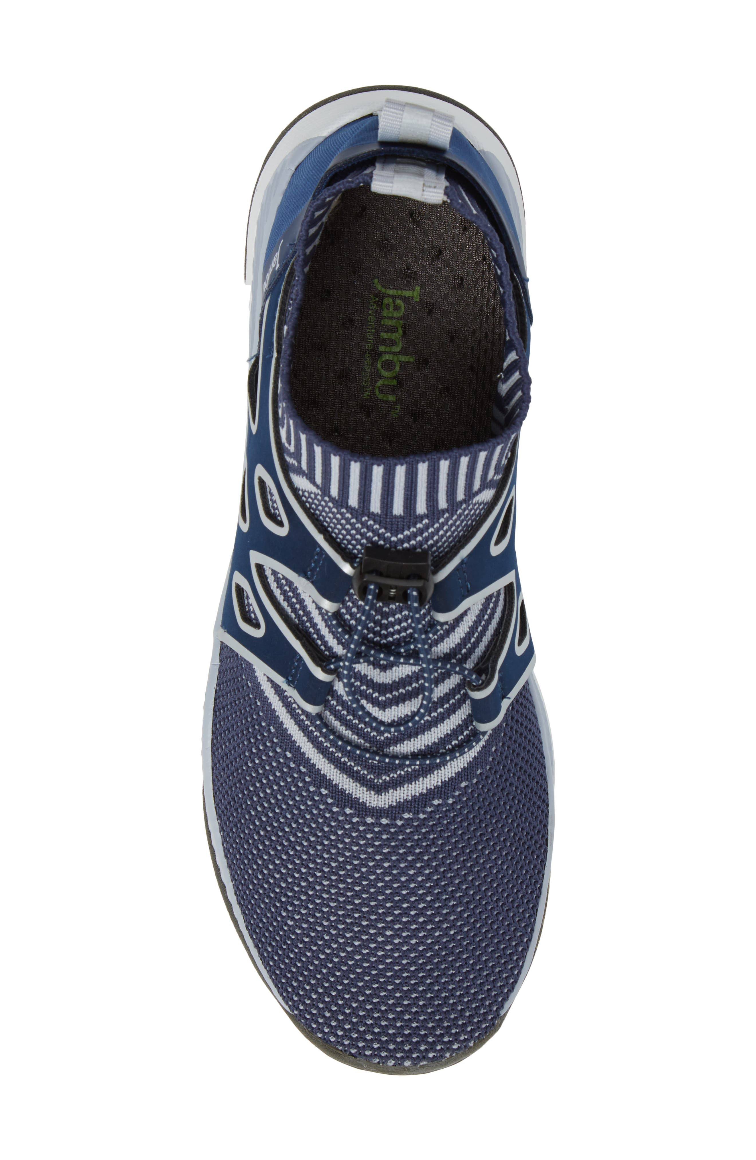 Jackie Sneaker,                             Alternate thumbnail 5, color,                             Navy Fabric