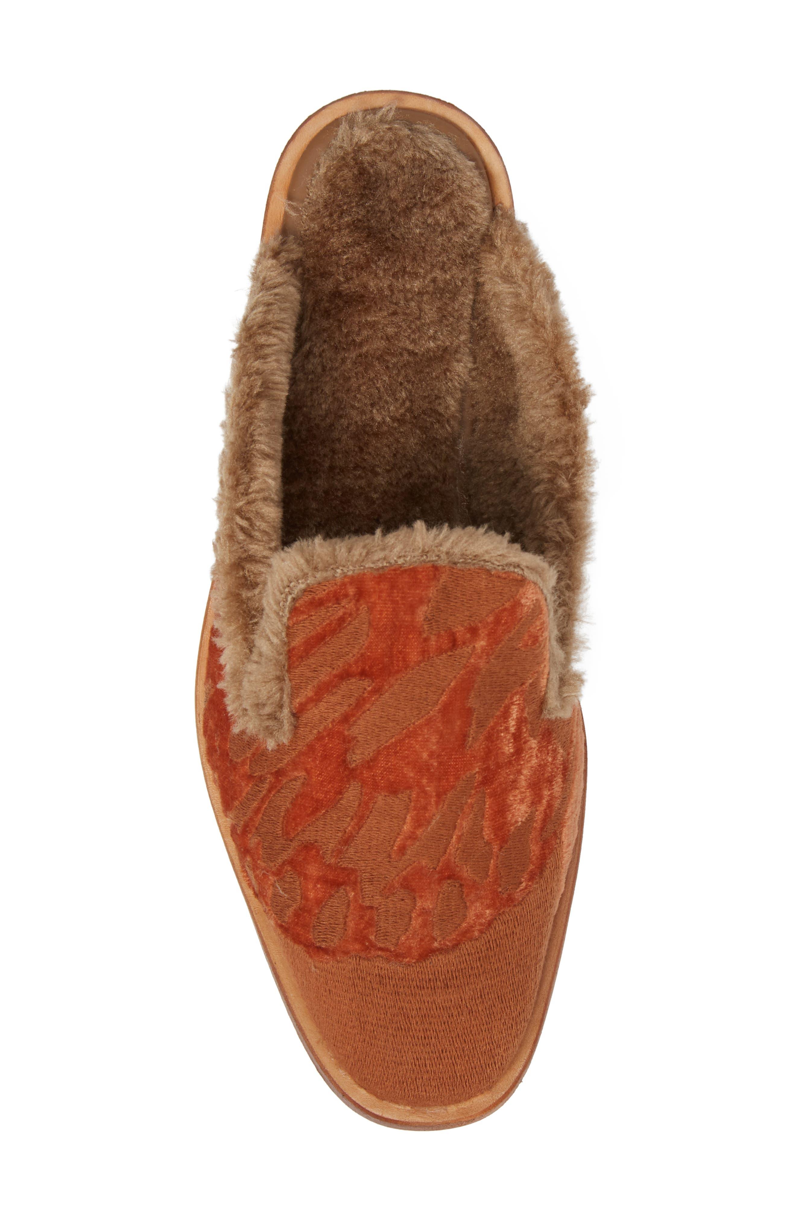 Alternate Image 5  - Free People Butterfly Faux Fur Lined Mule (Women)