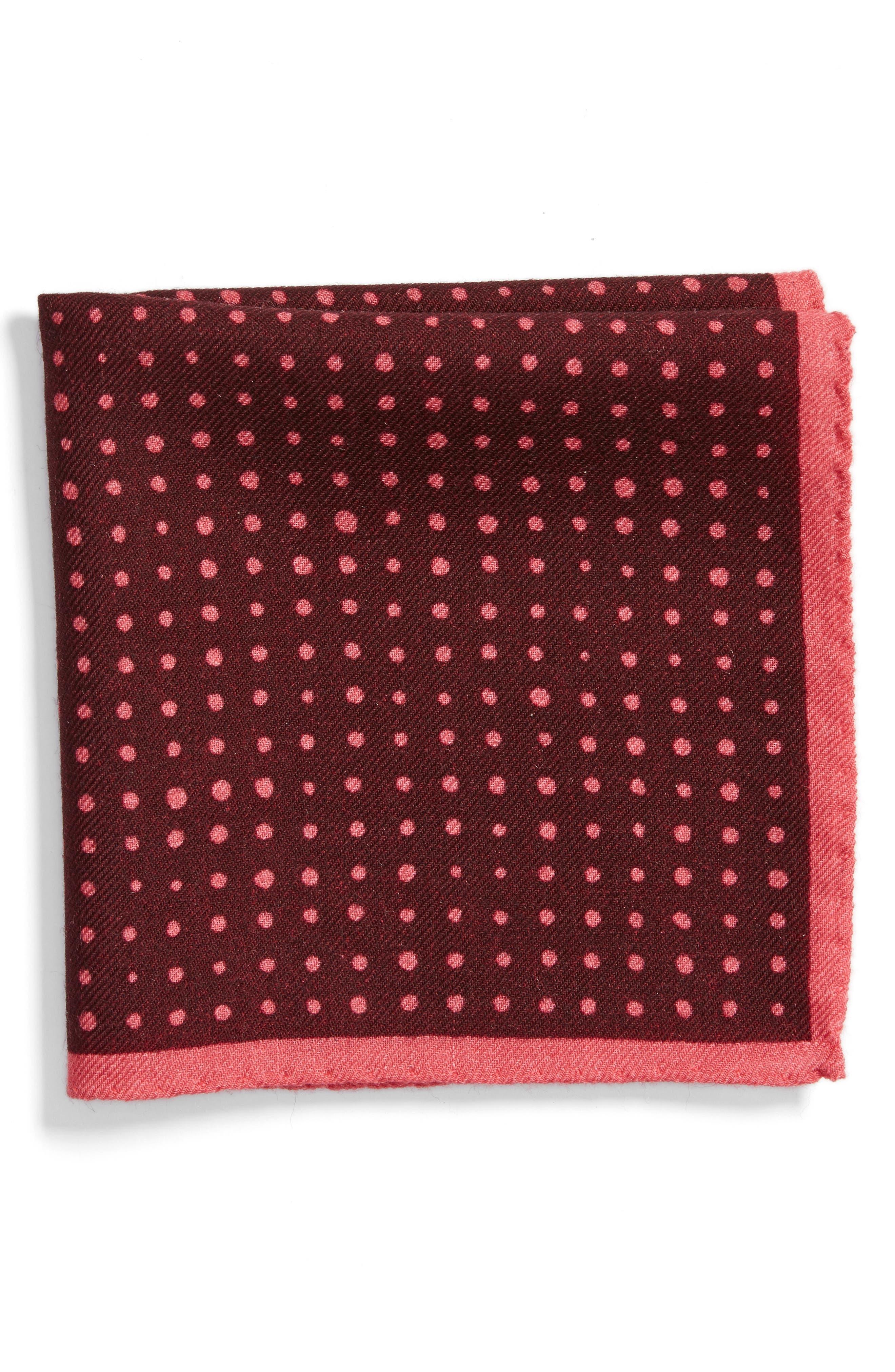 Bonobos Tivoli Dot Wool Pocket Square