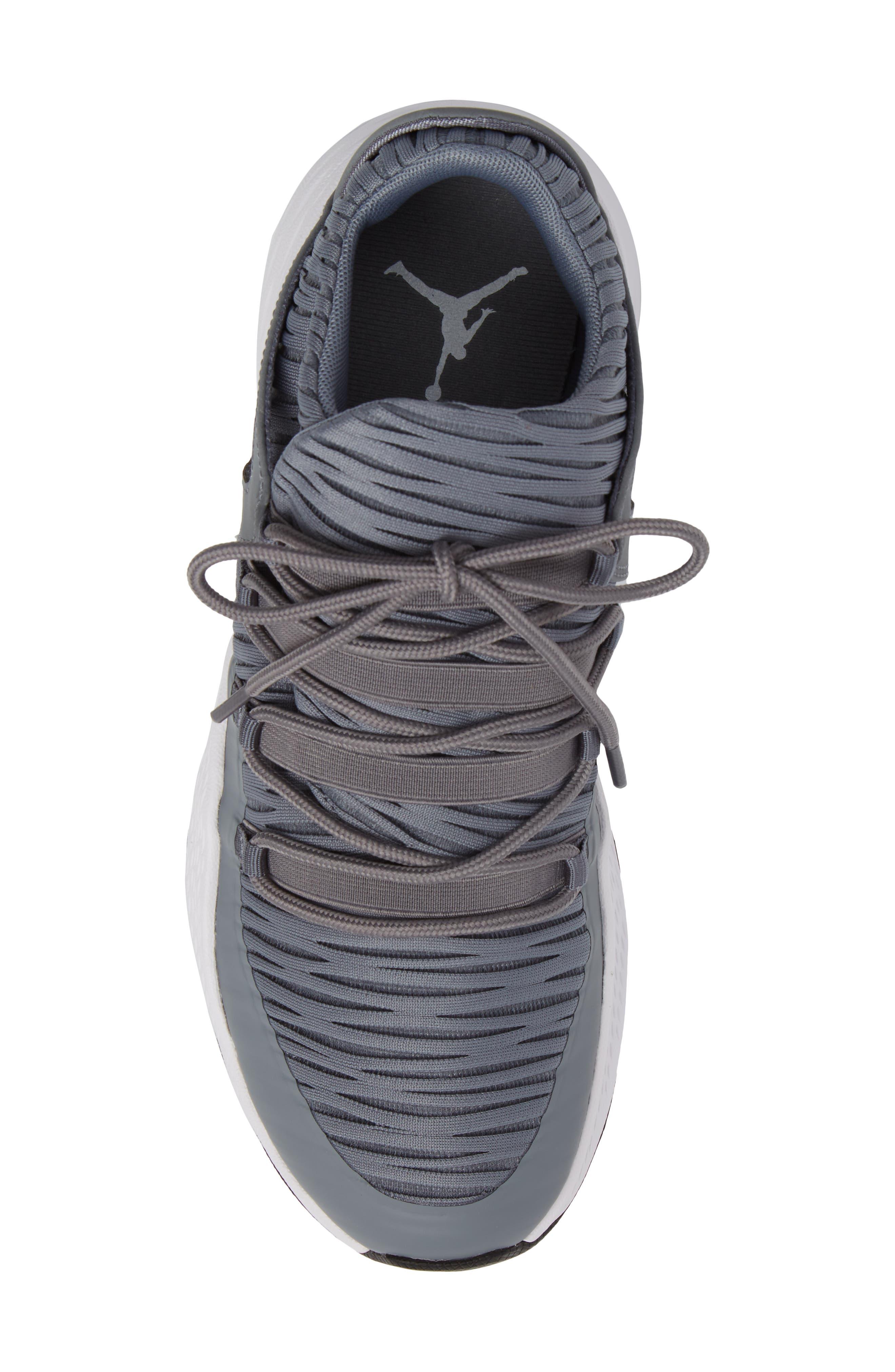 Jordan Formula 23 Low Sneaker,                             Alternate thumbnail 5, color,                             Cool Grey/ White/ Black