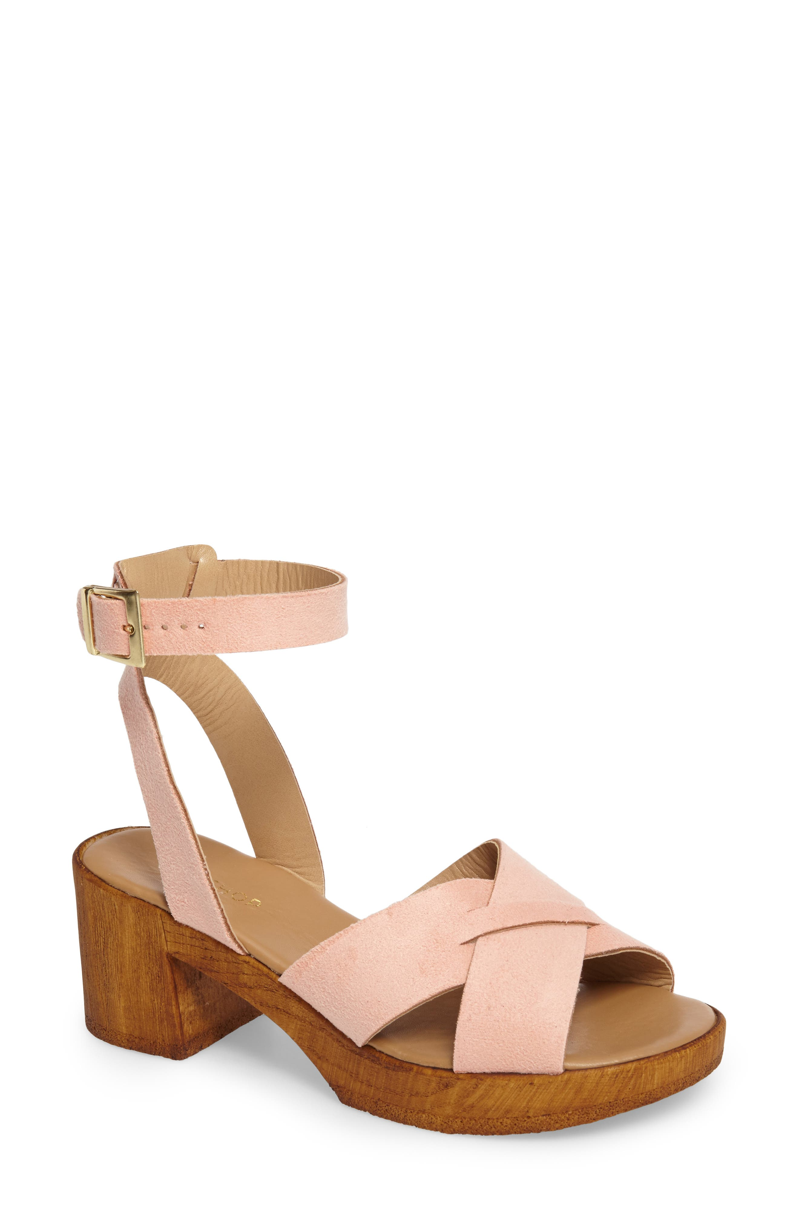 Topshop Dolly Block Heel Sandal (Women)