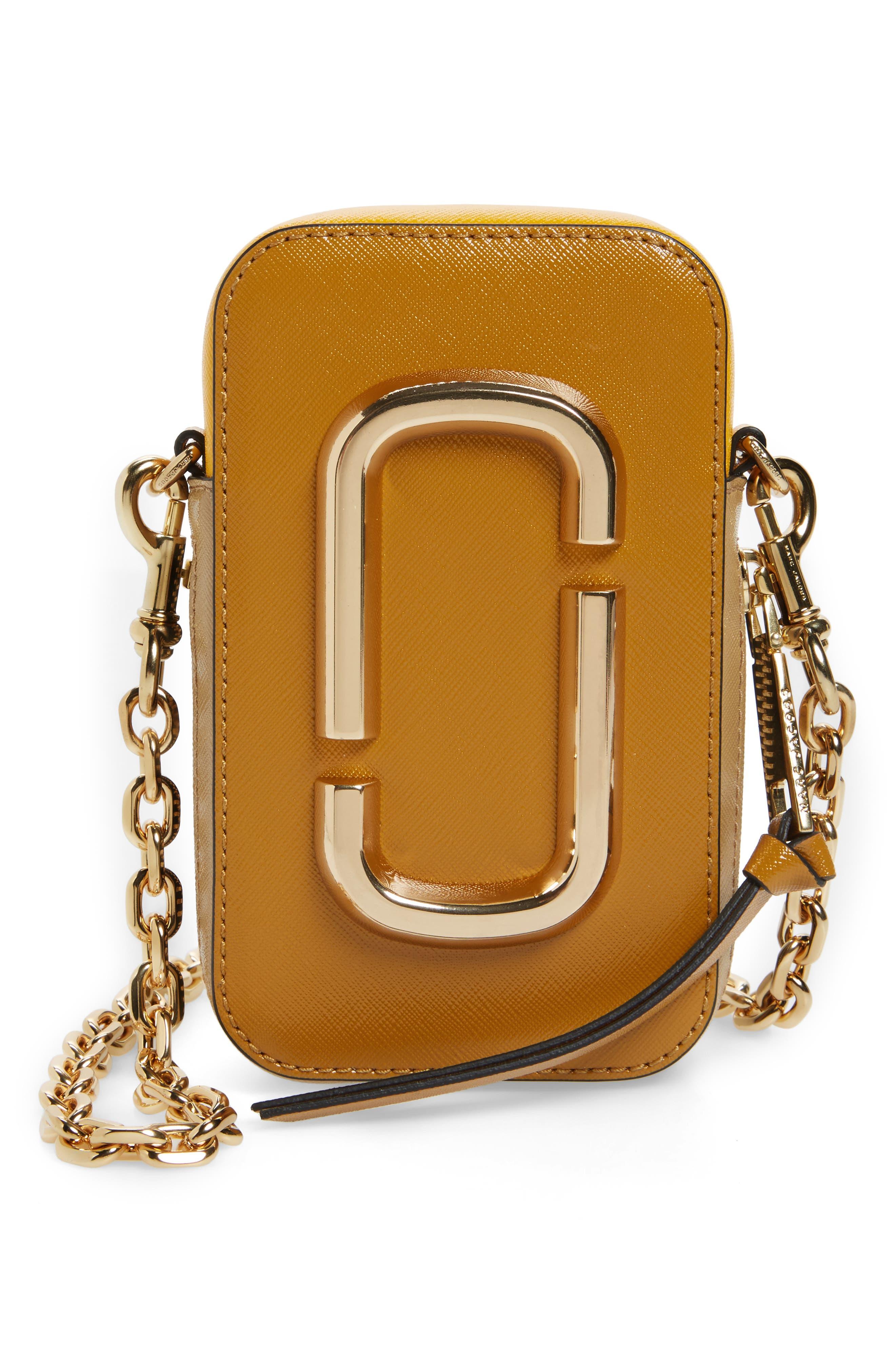 MARC JACOBS Hot Shot Saffiano Leather Shoulder Bag