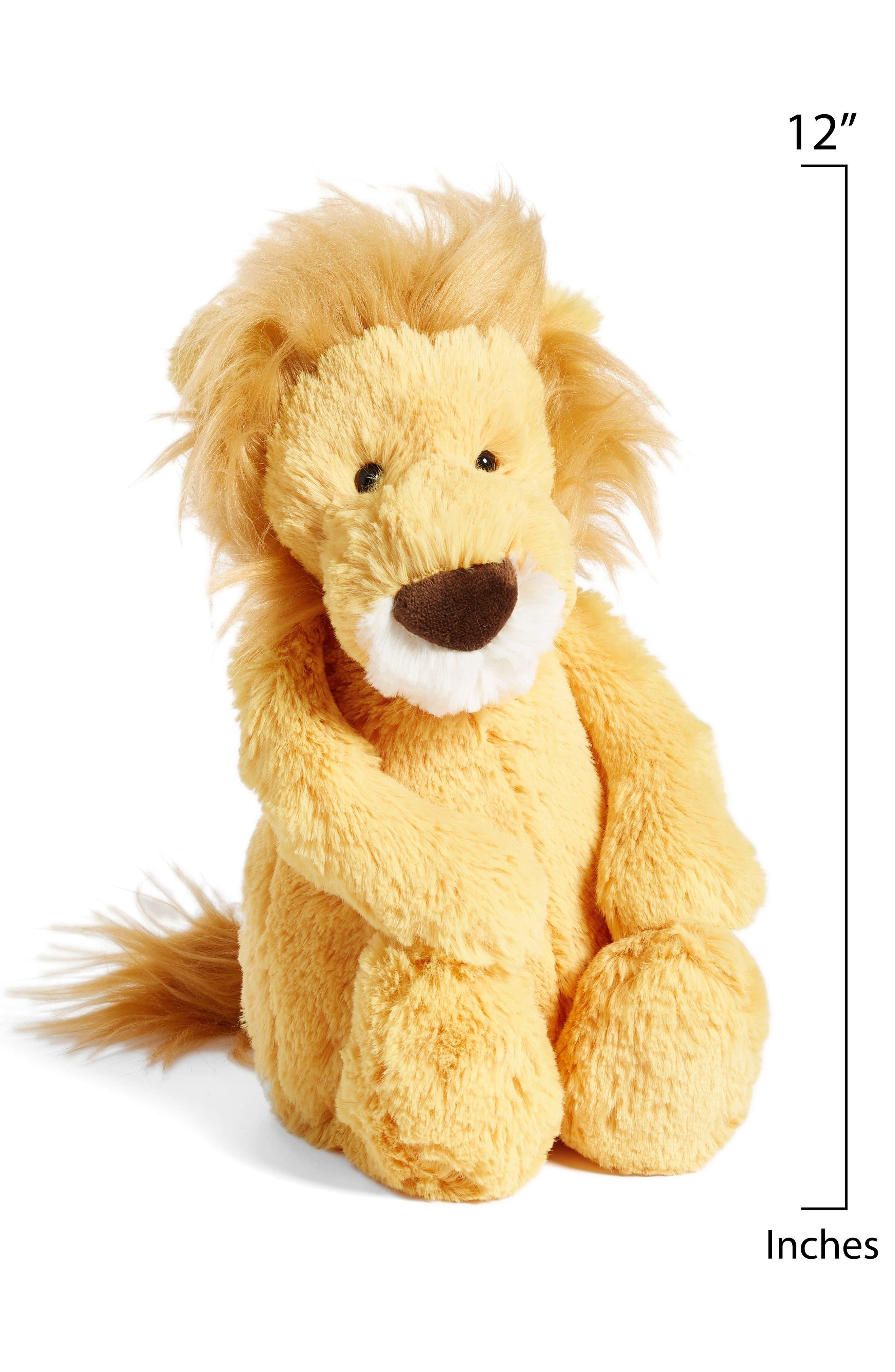 'Medium Bashful Lion' Stuffed Animal,                             Alternate thumbnail 2, color,                             Brown