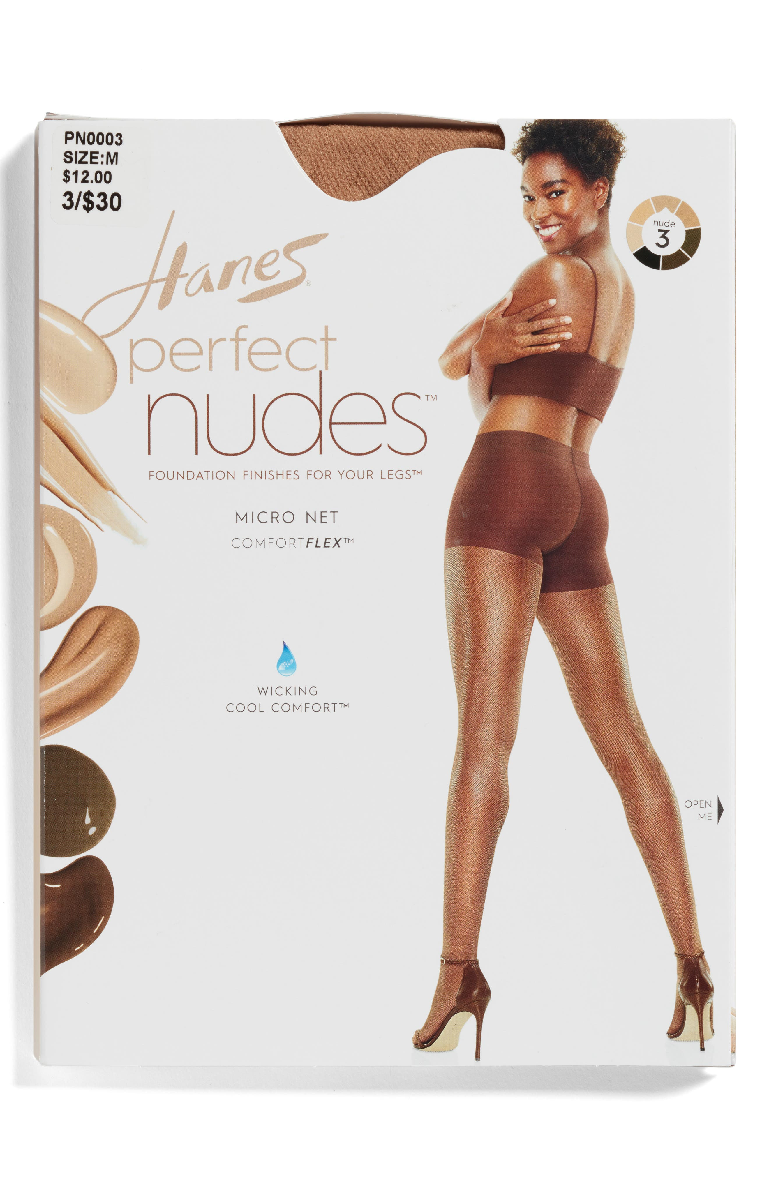 Perfect Nudes Micro Net Pantyhose,                             Alternate thumbnail 2, color,                             Beige/ Nude