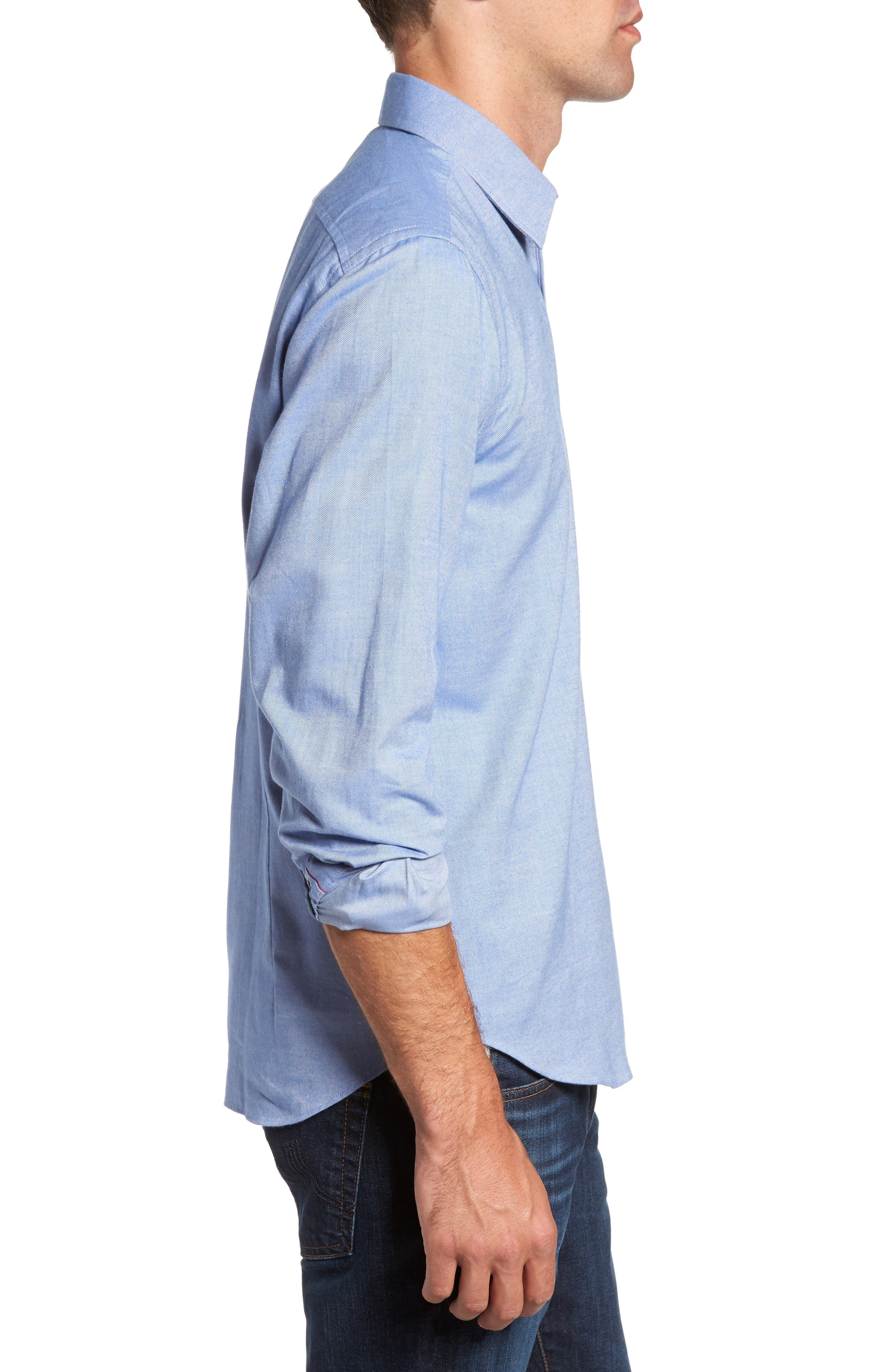 Alternate Image 3  - Jeremy Argyle Slim Fit Oxford Cloth Sport Shirt