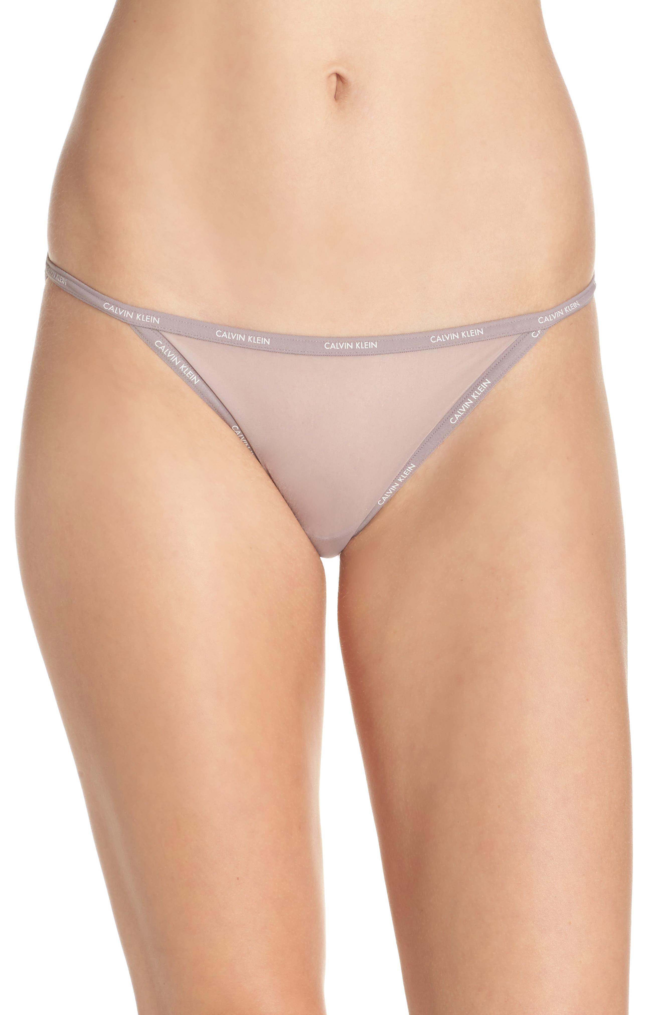 Main Image - Calvin Klein Marquisette String Bikini