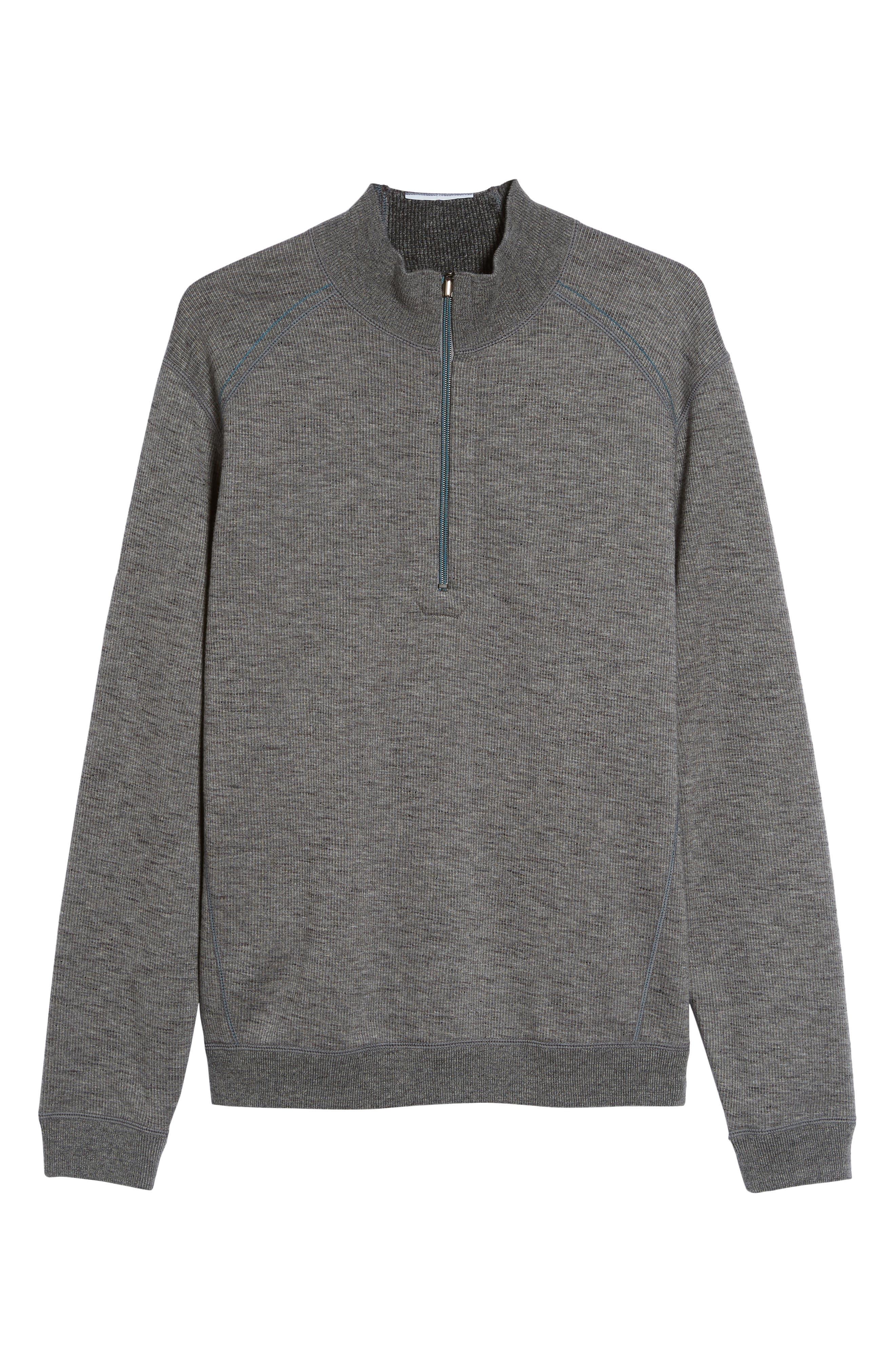 Alternate Image 6  - Tommy Bahama Flipsider Half Zip Reversible Sweatshirt