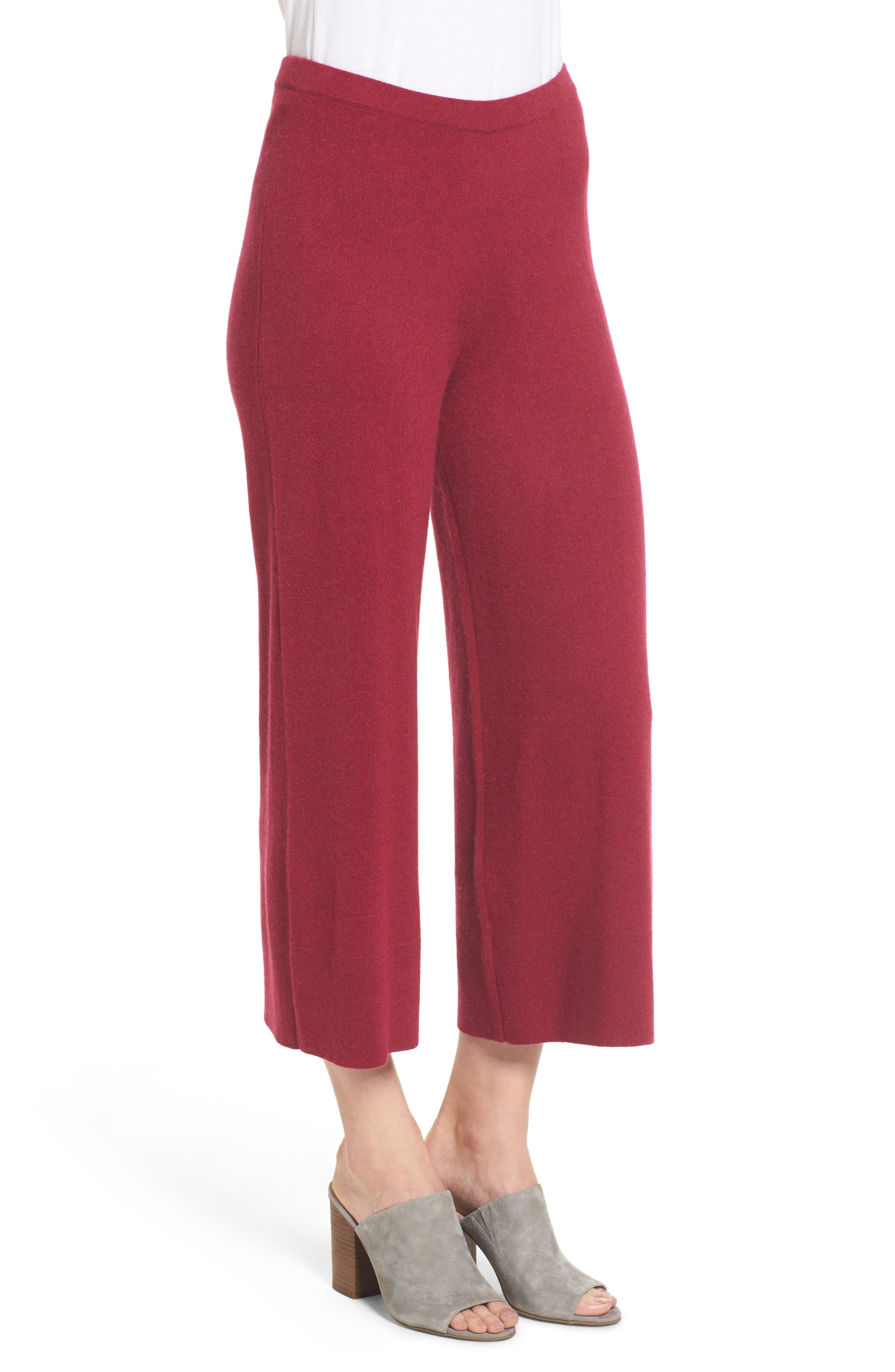 Alternate Image 3  - Eileen Fisher Knit Cashmere Ankle Pants