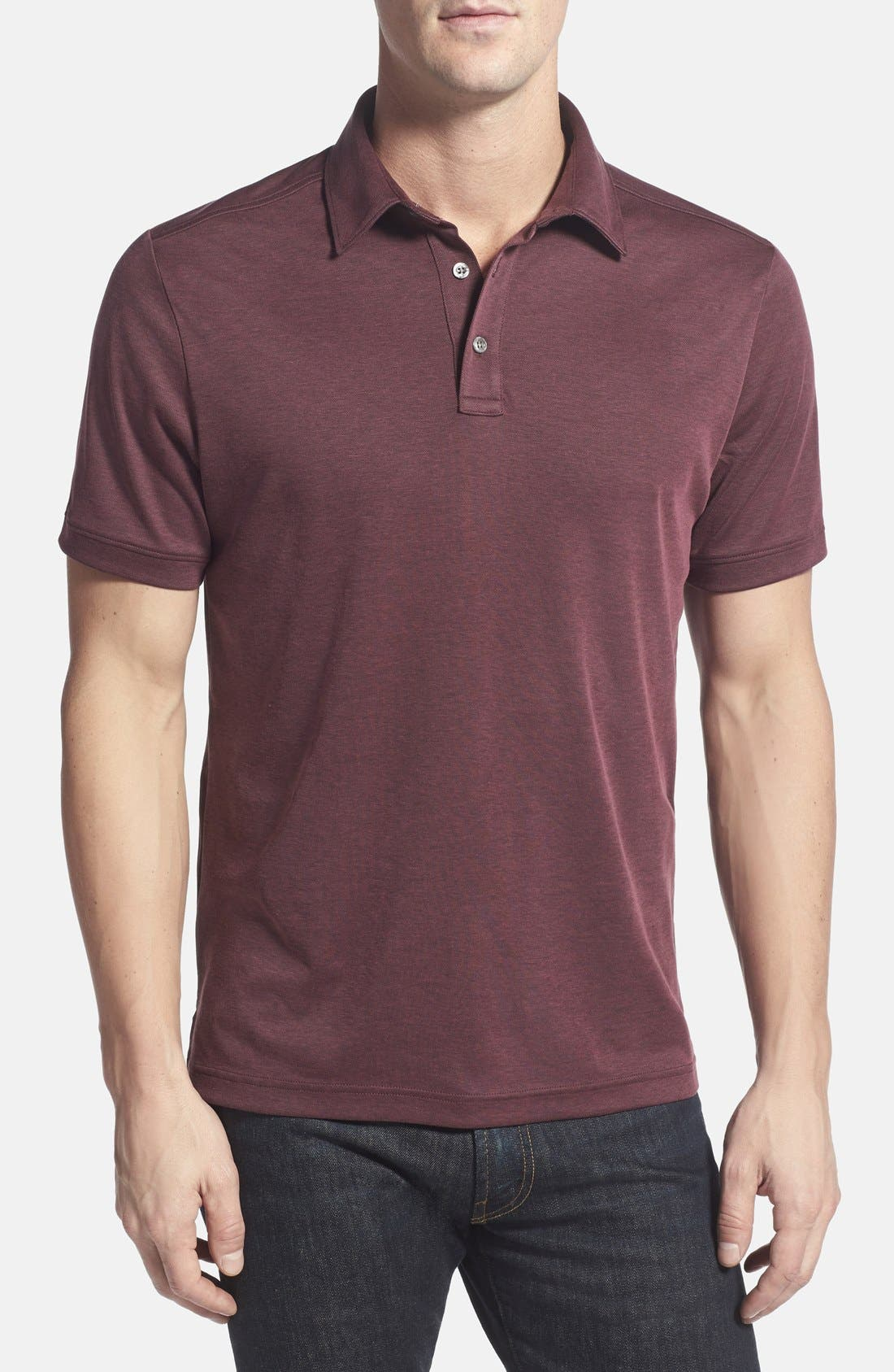Main Image - John W. Nordstrom Regular Fit Pima Cotton Blend Polo