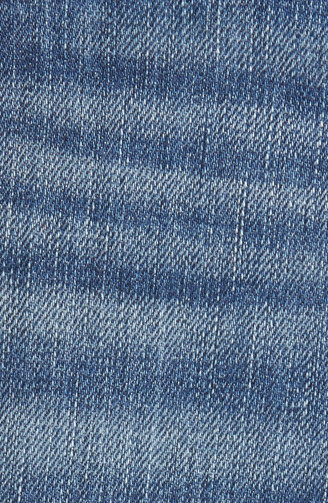 Alternate Image 5  - True Religion Brand Jeans Rocco Skinny Fit Jeans (Indigo Clutch)