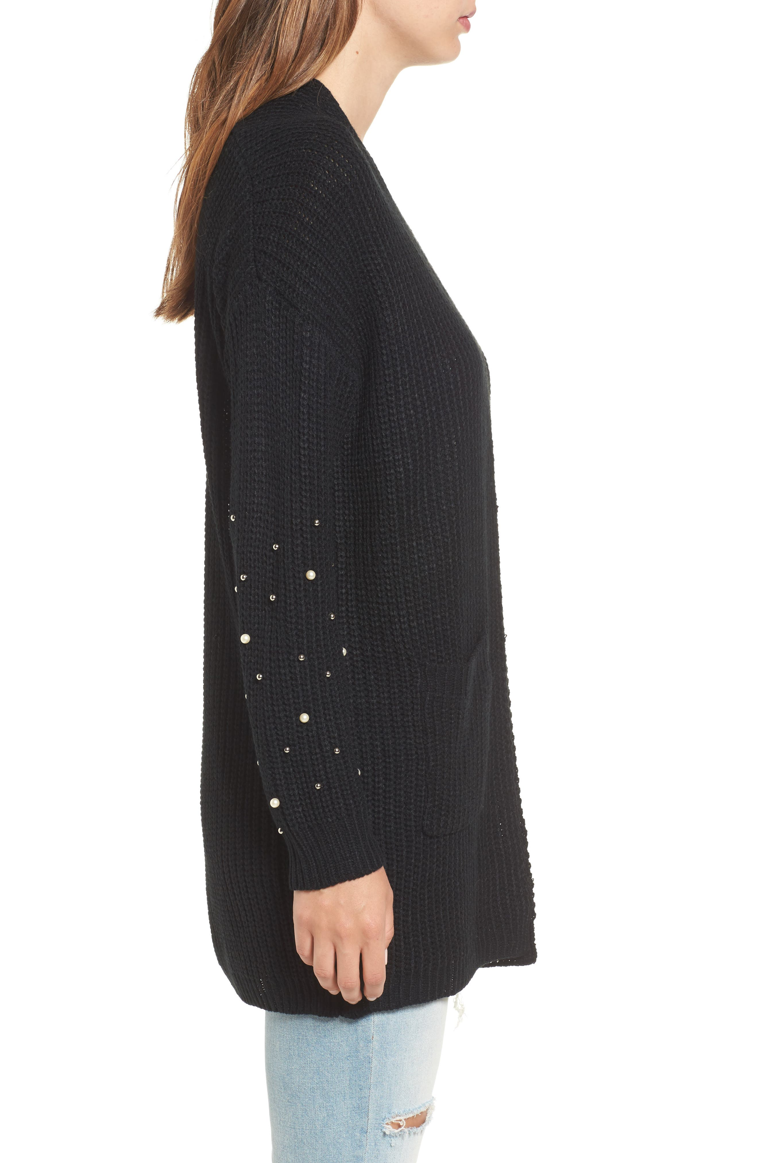 Alternate Image 3  - Dreamers by Debut Faux Pearl Detail Cardigan