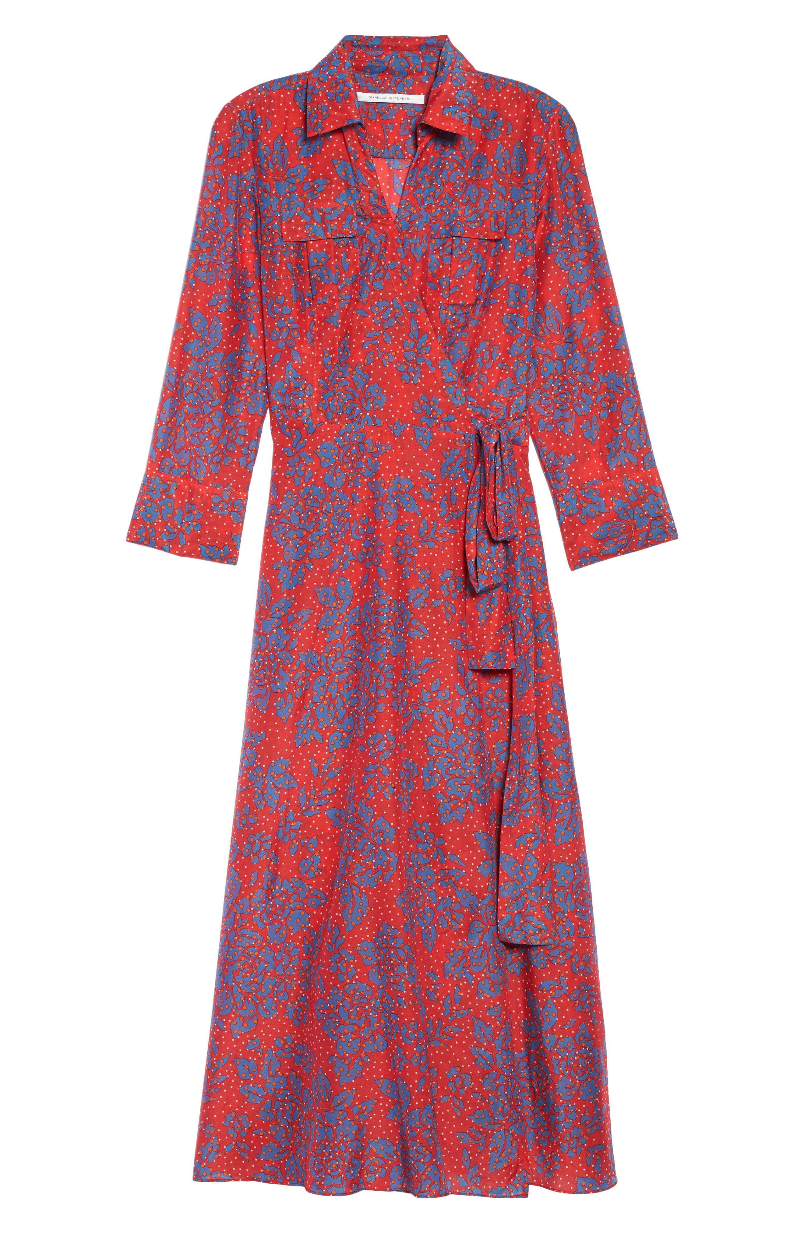 Alternate Image 6  - Diane von Furstenberg Long Cover-Up Wrap Dress
