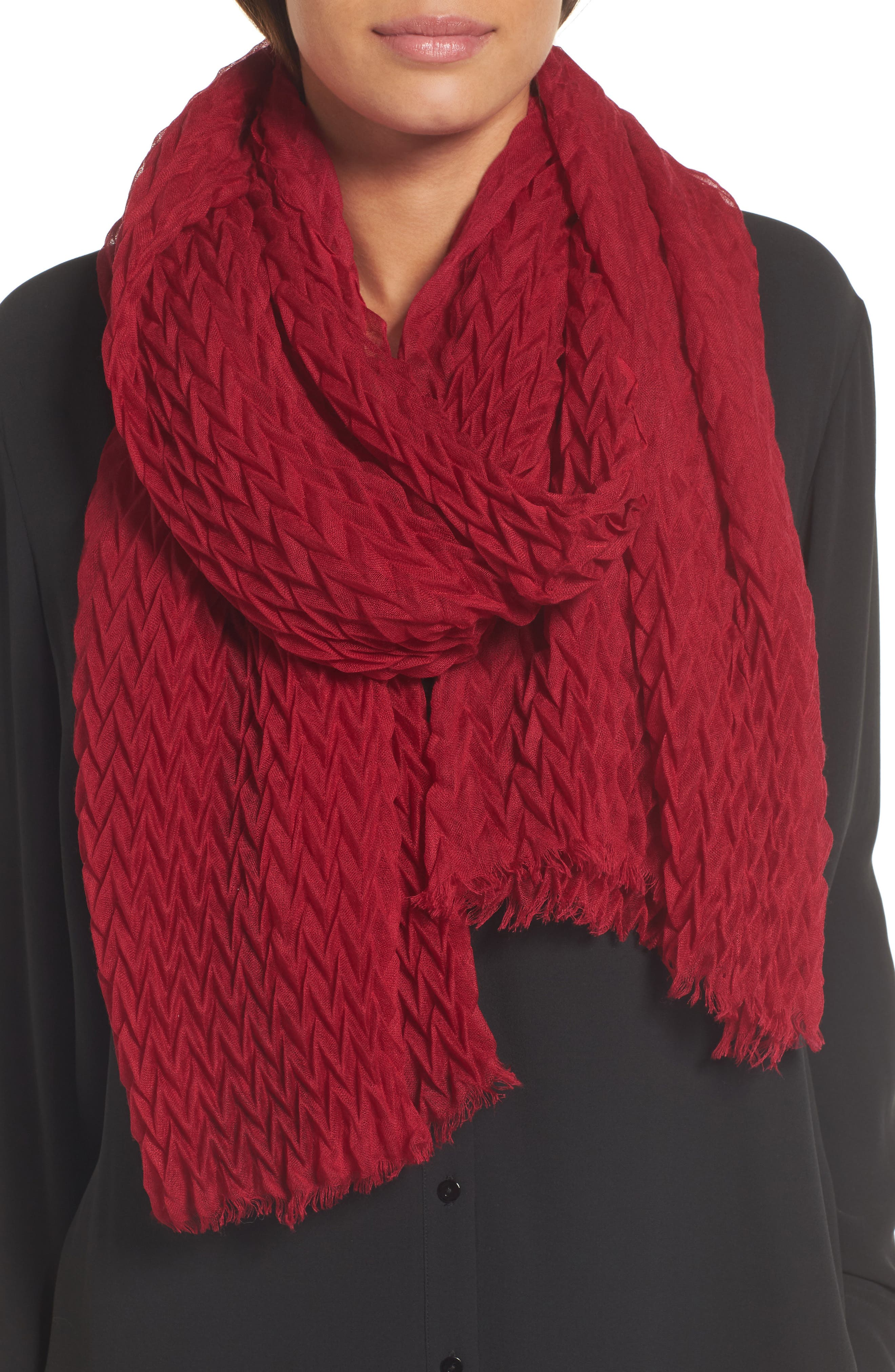 Alternate Image 1 Selected - Eileen Fisher Silk & Wool Wrap