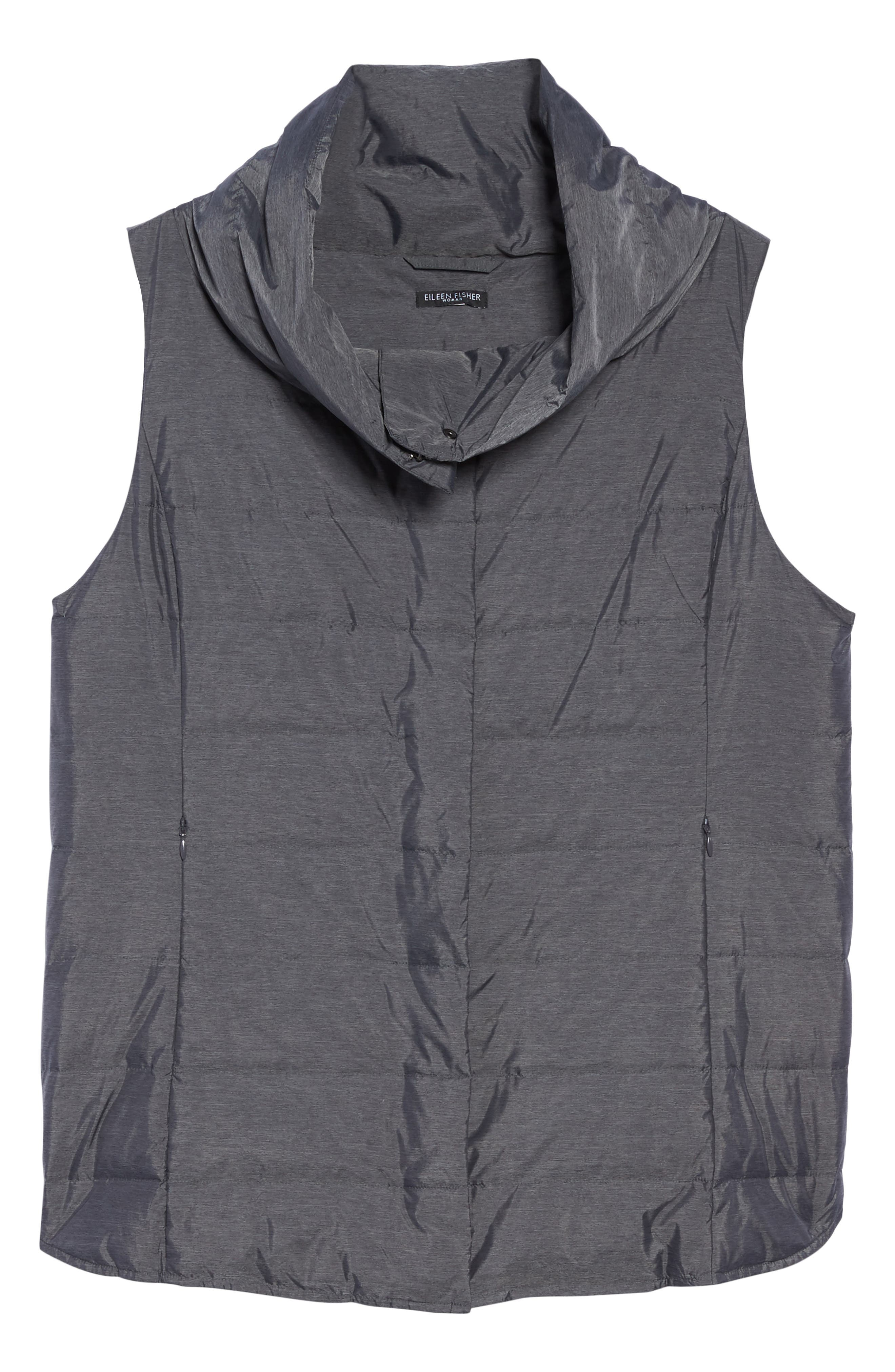 Alternate Image 6  - Eileen Fisher Stand Collar Vest (Plus Size)
