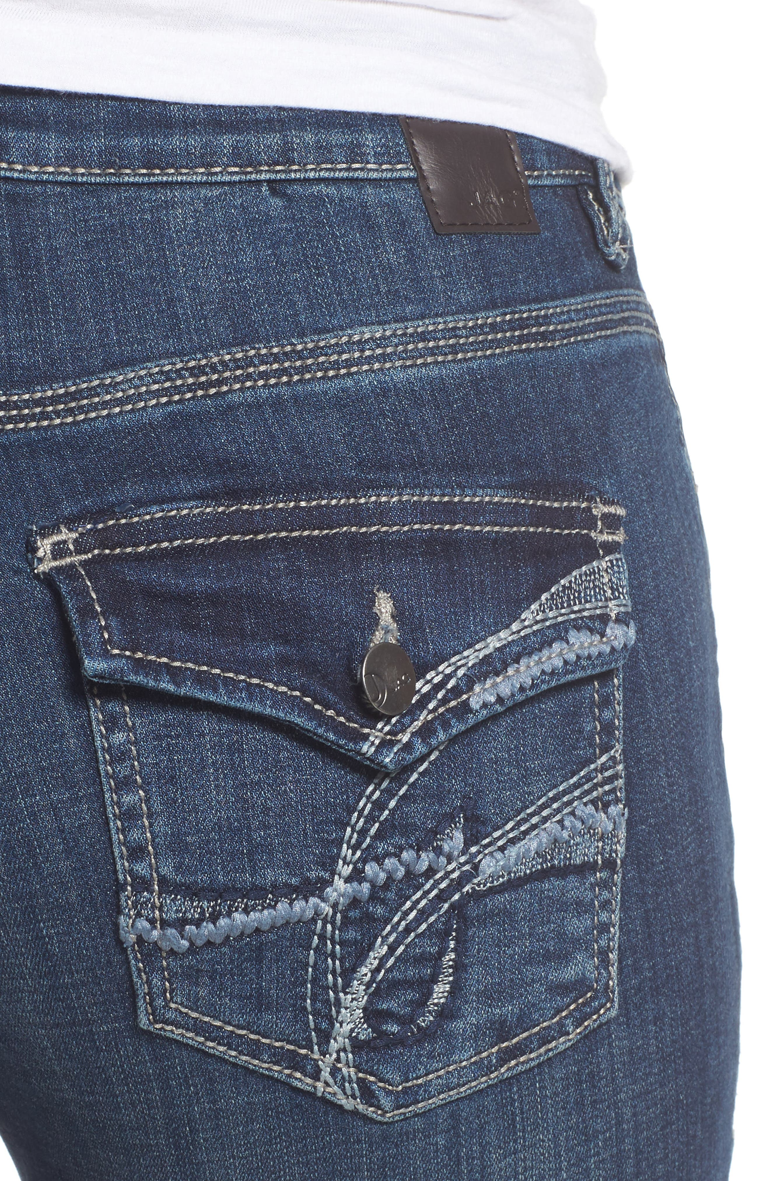 Adrian Straight Leg Jeans,                             Alternate thumbnail 4, color,                             Thorne Blue