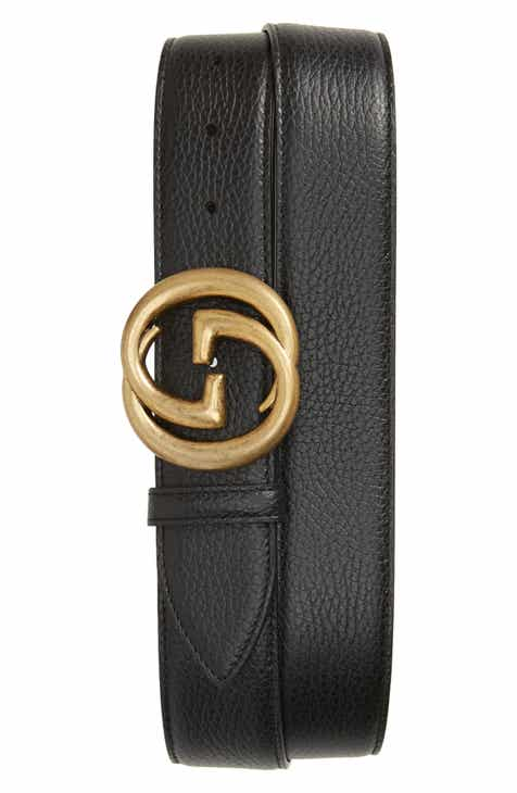 Gucci Interlocking G Calfskin Leather Belt