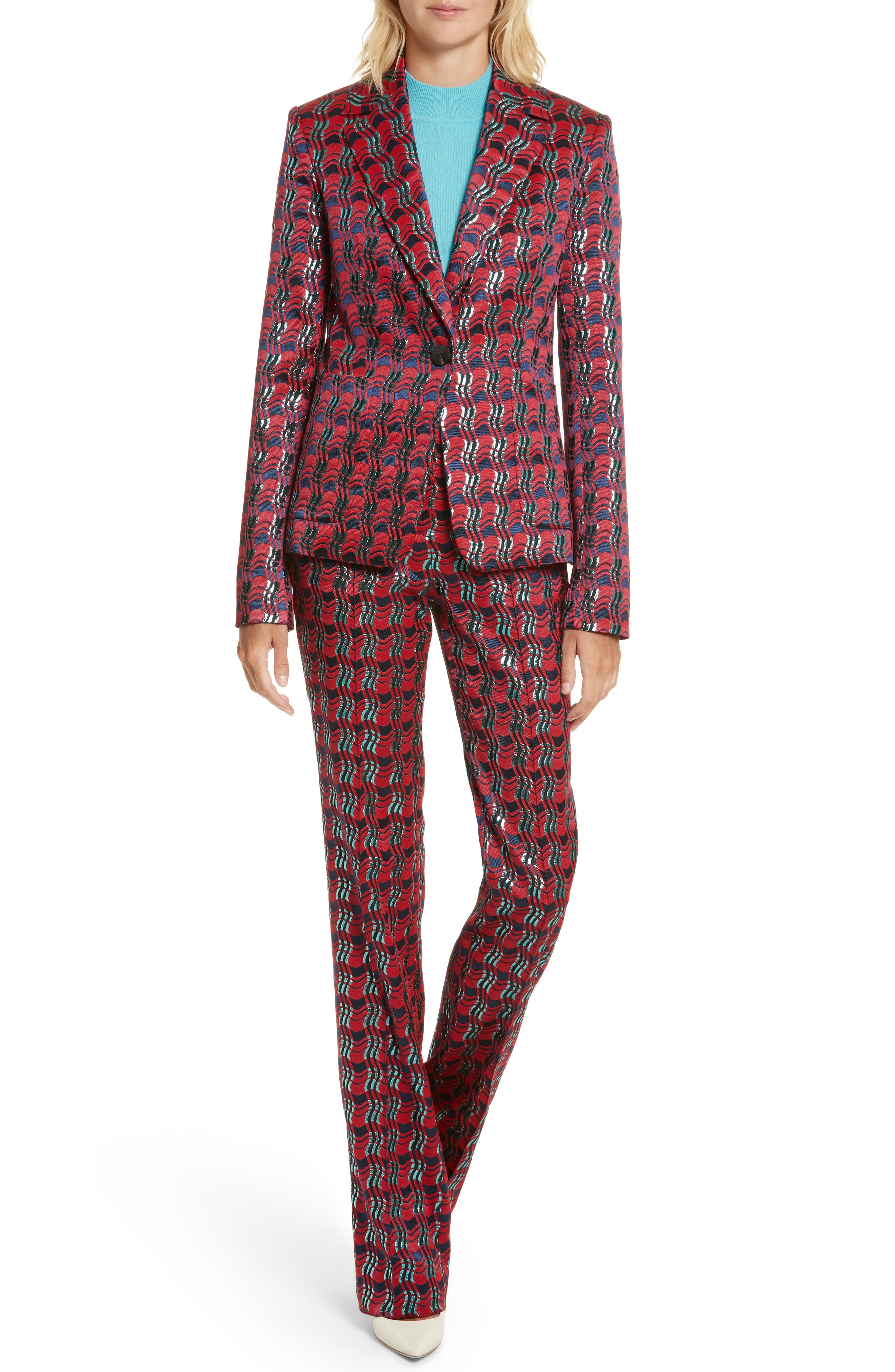 Alternate Image 5  - Diane von Furstenberg Tailored Jacquard Jacket