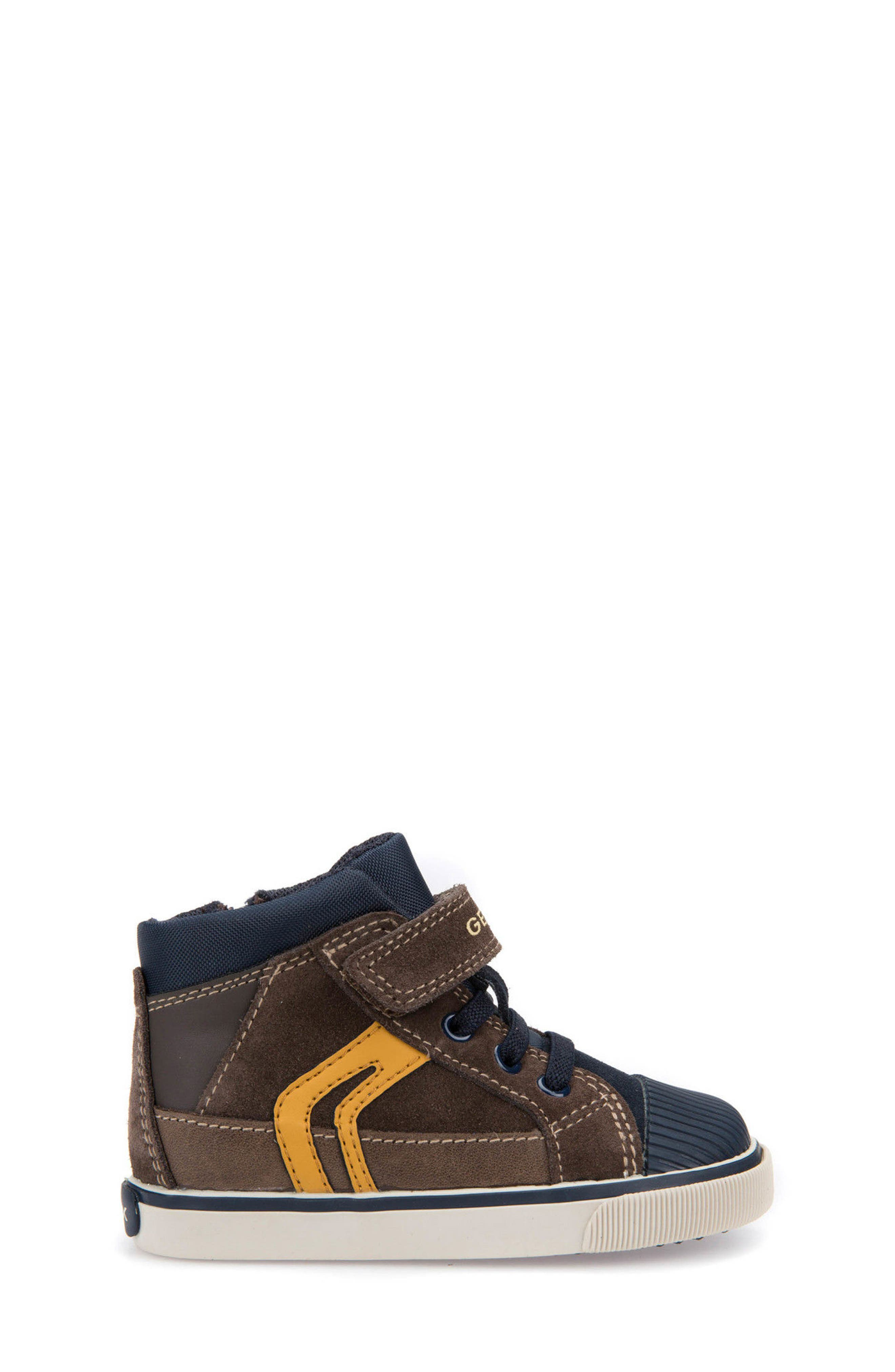 'Kiwi' High Top Sneaker,                             Alternate thumbnail 3, color,                             Chestnut/ Navy