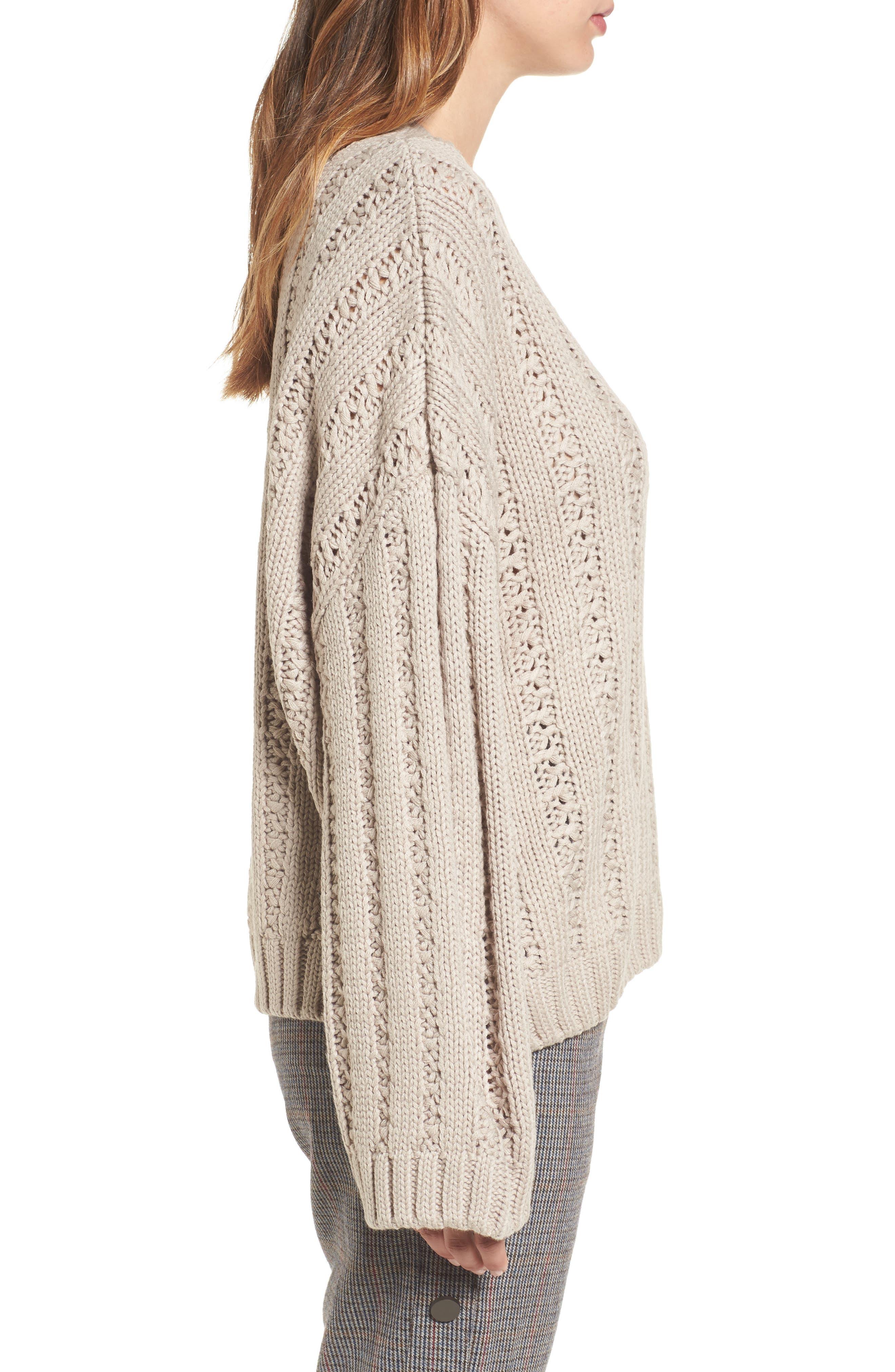 Alternate Image 3  - J.O.A. Chunky Textured Sweater