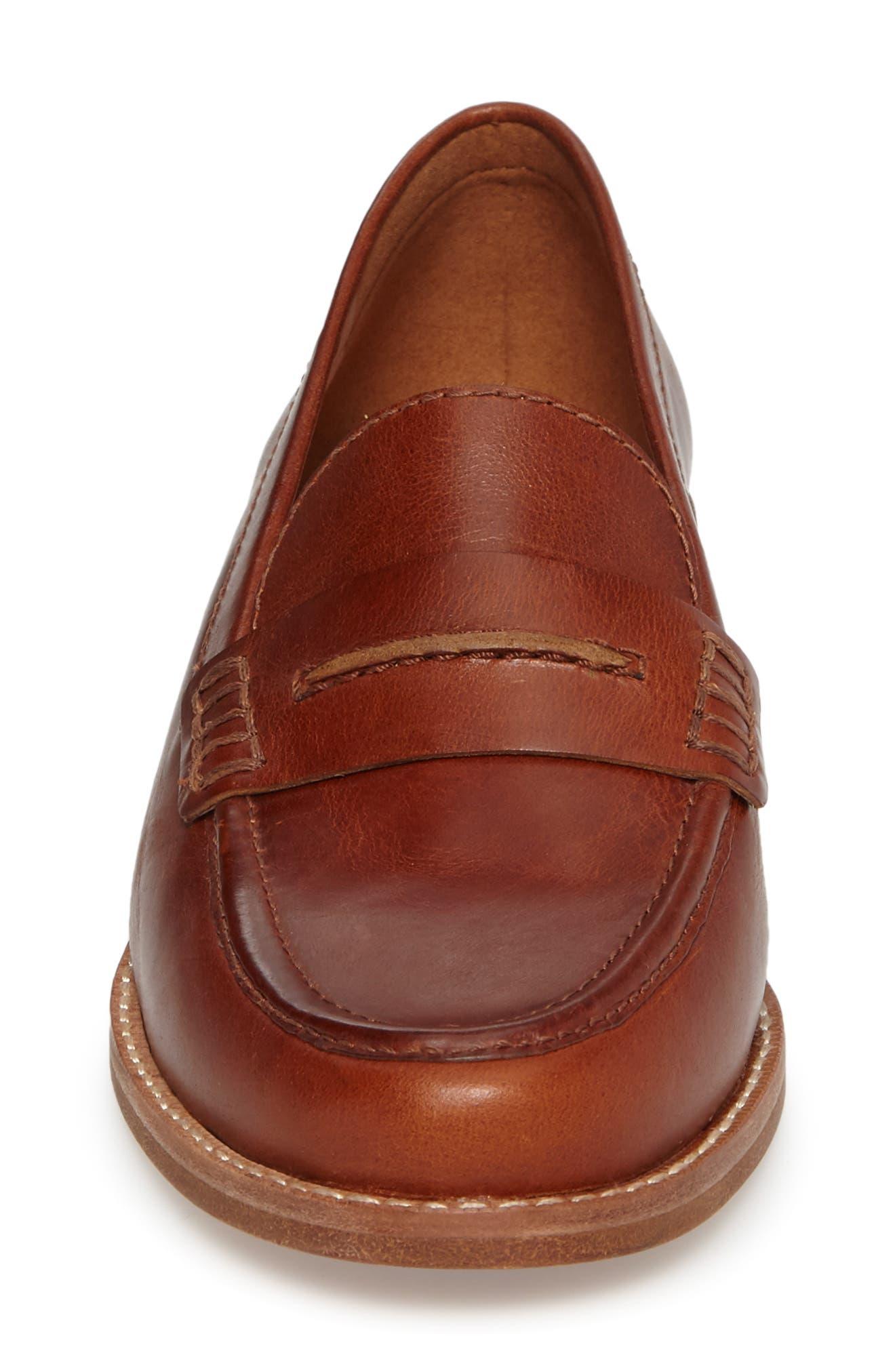 The Elinor Loafer,                             Alternate thumbnail 4, color,                             Dark Chestnut Leather